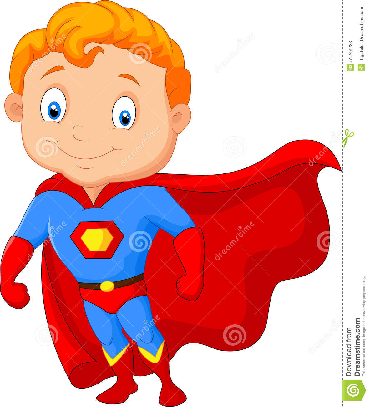 Superhero Art For Little Boys: Cartoon Little Boy Superhero Stock Illustration