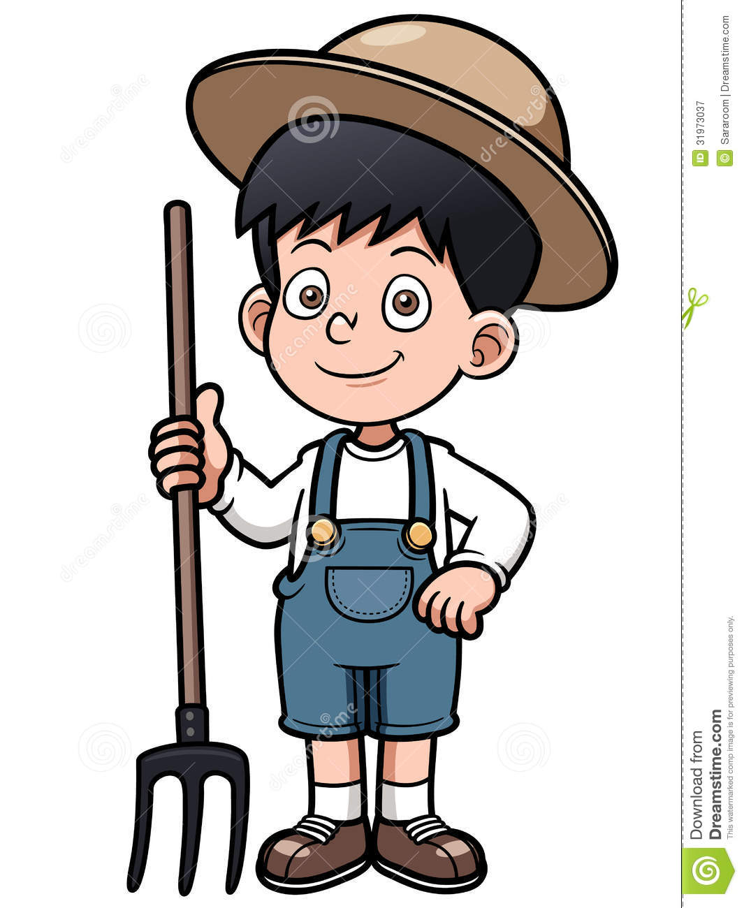 Cartoon Little Farmer Royalty Free Stock Photography - Image: 31973037