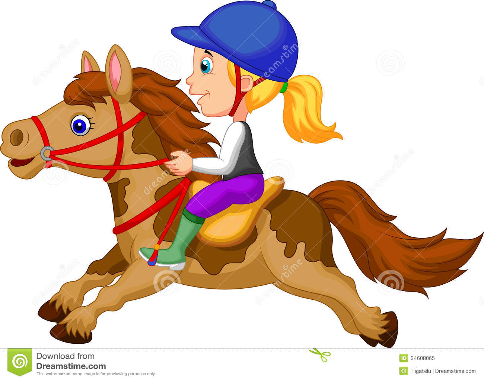 clip art girl riding horse - photo #8