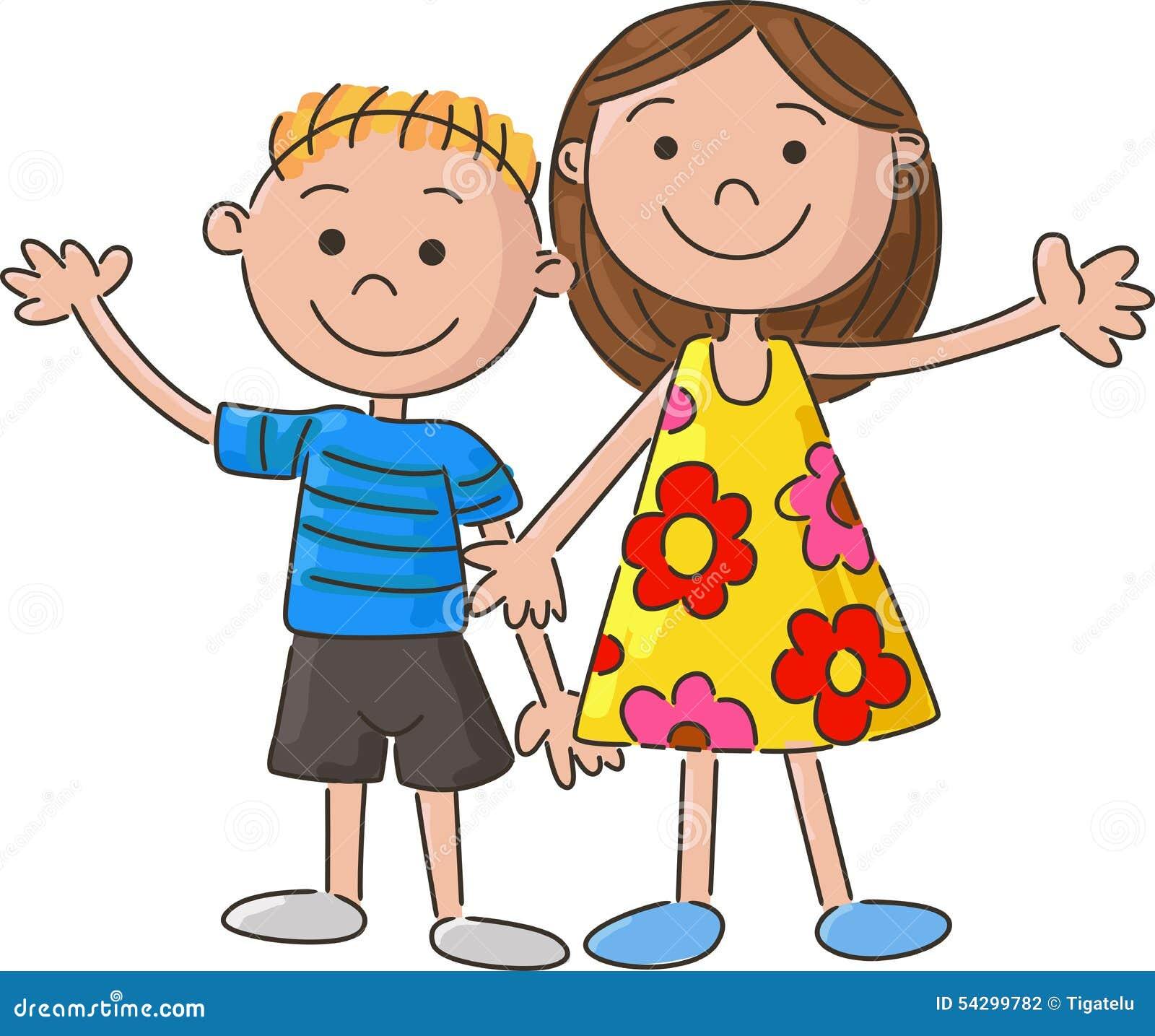 Uncategorized Cartoon Little Kids cartoon little kids holding hand stock vector image 54299782 royalty free download kids
