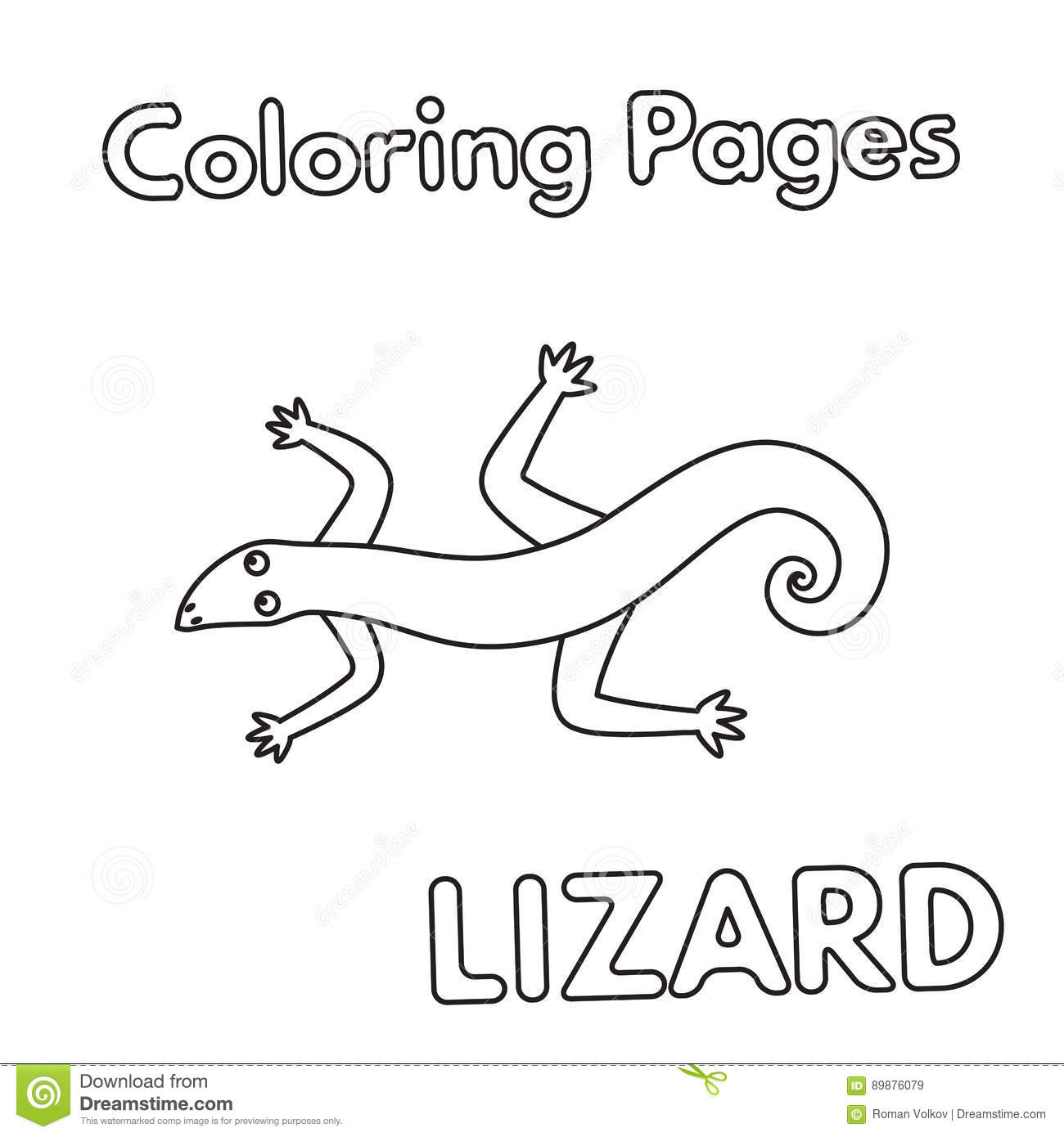 lizard coloring pages stock illustrations u2013 88 lizard coloring
