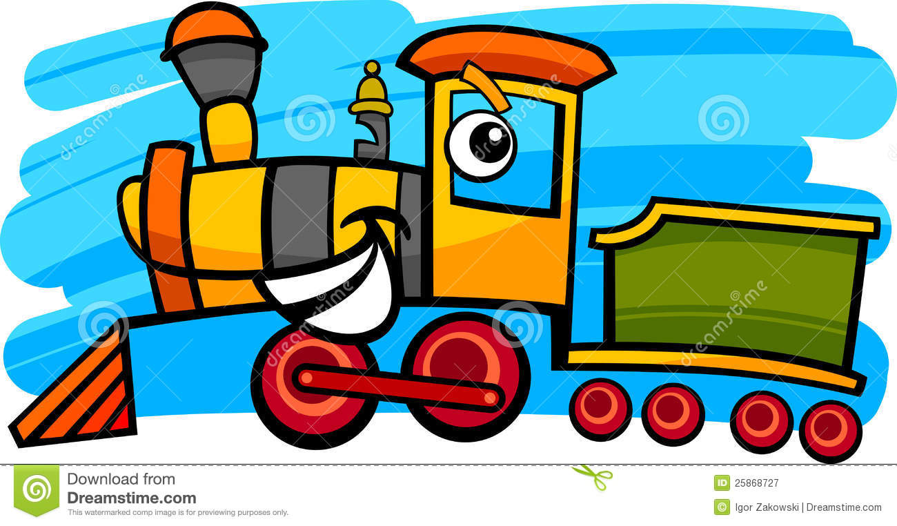 happy kids cartoon on a colorful train stock vector image 50763640