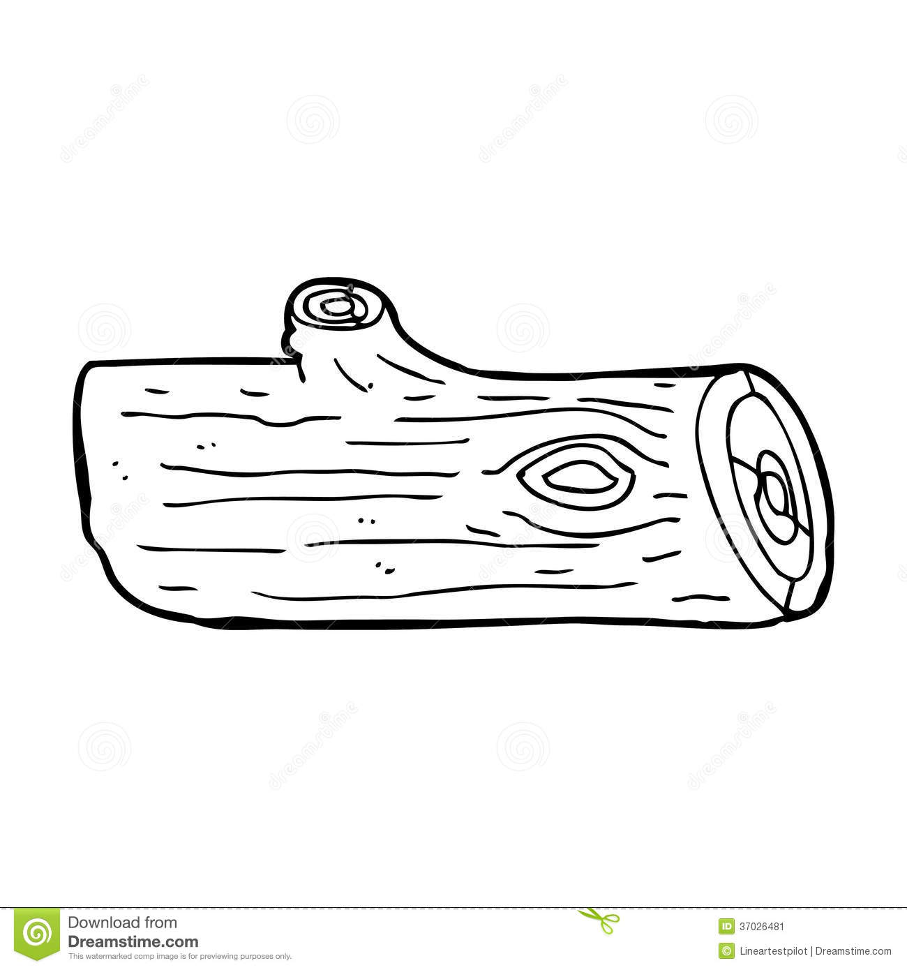 Log Cartoon Coloring Pages