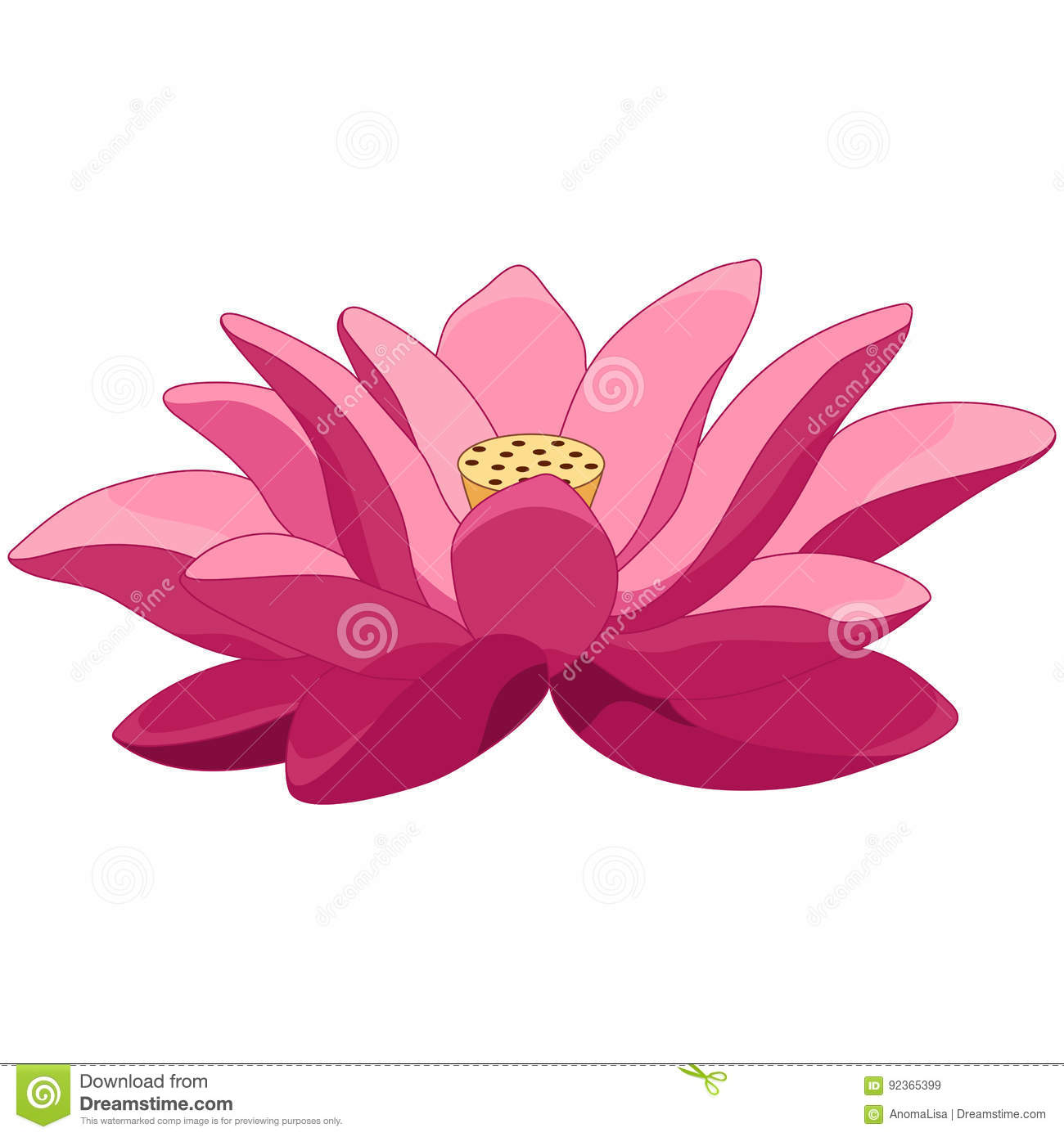 Cartoon lotus flower stock vector illustration of decorative 92365399 cartoon lotus flower izmirmasajfo