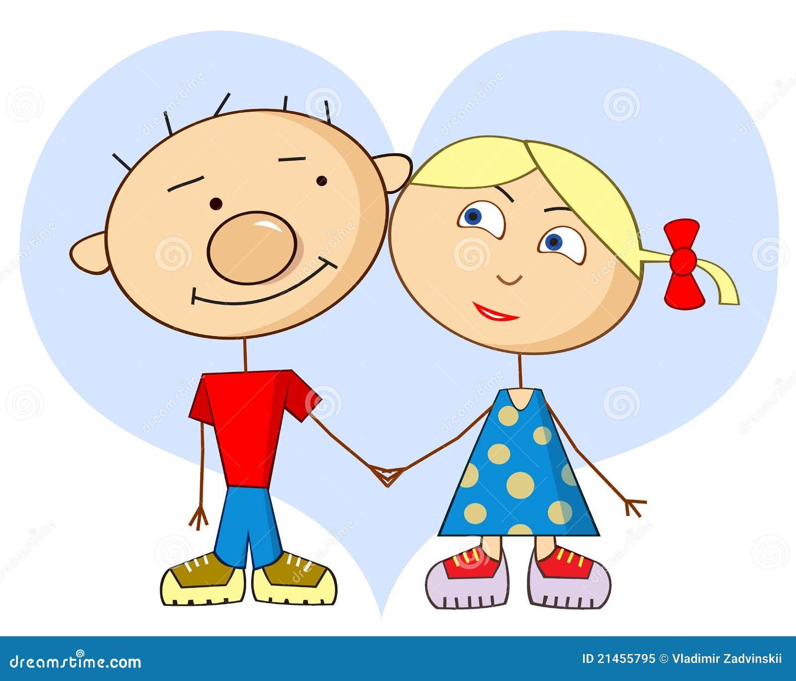 In Love Cartoon: Cartoon Love Royalty Free Stock Photo