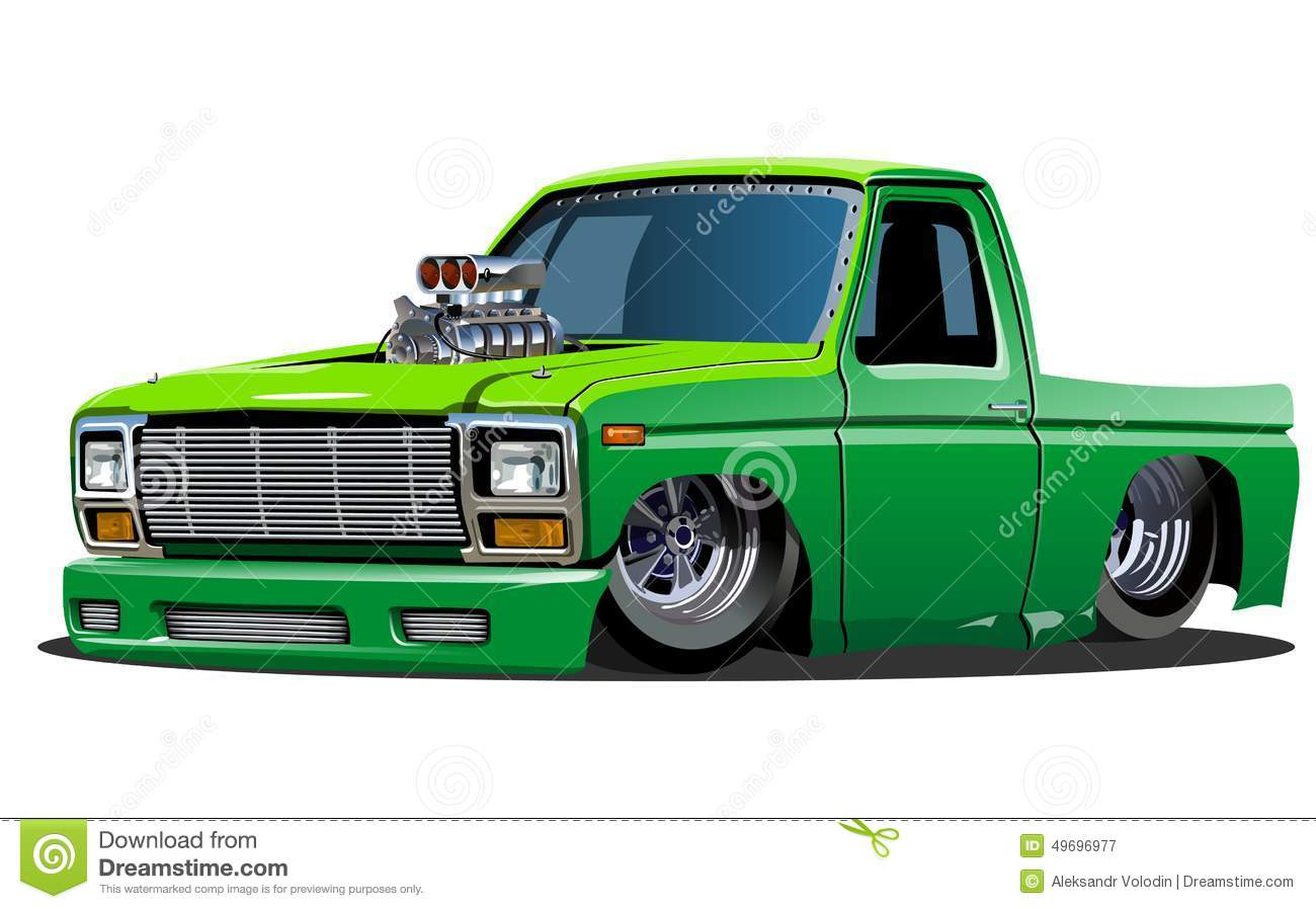 Vector cartoon lowrider pickup. Available EPS-10 format separated by ...