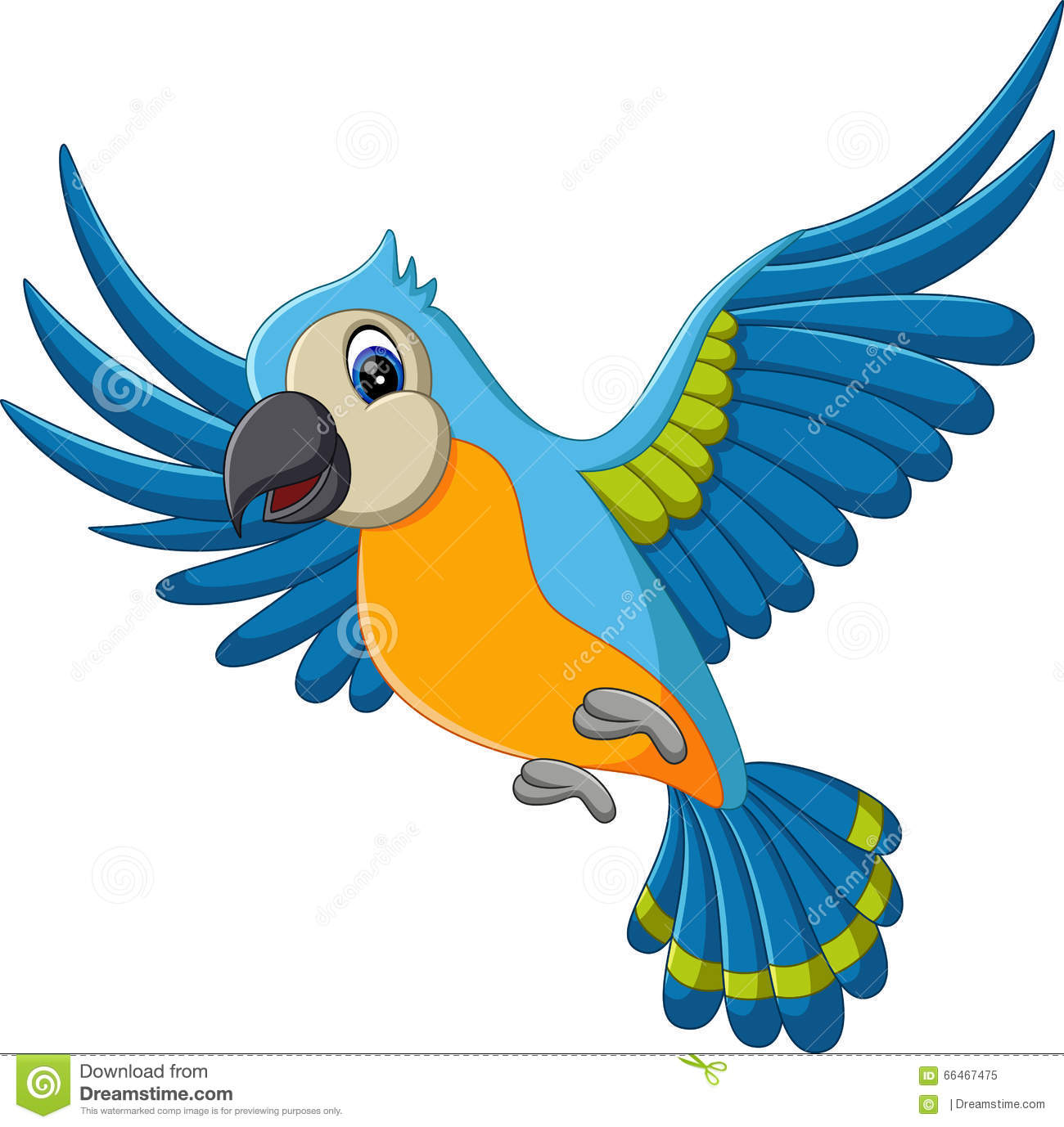 Cartoon parrot flying - photo#7