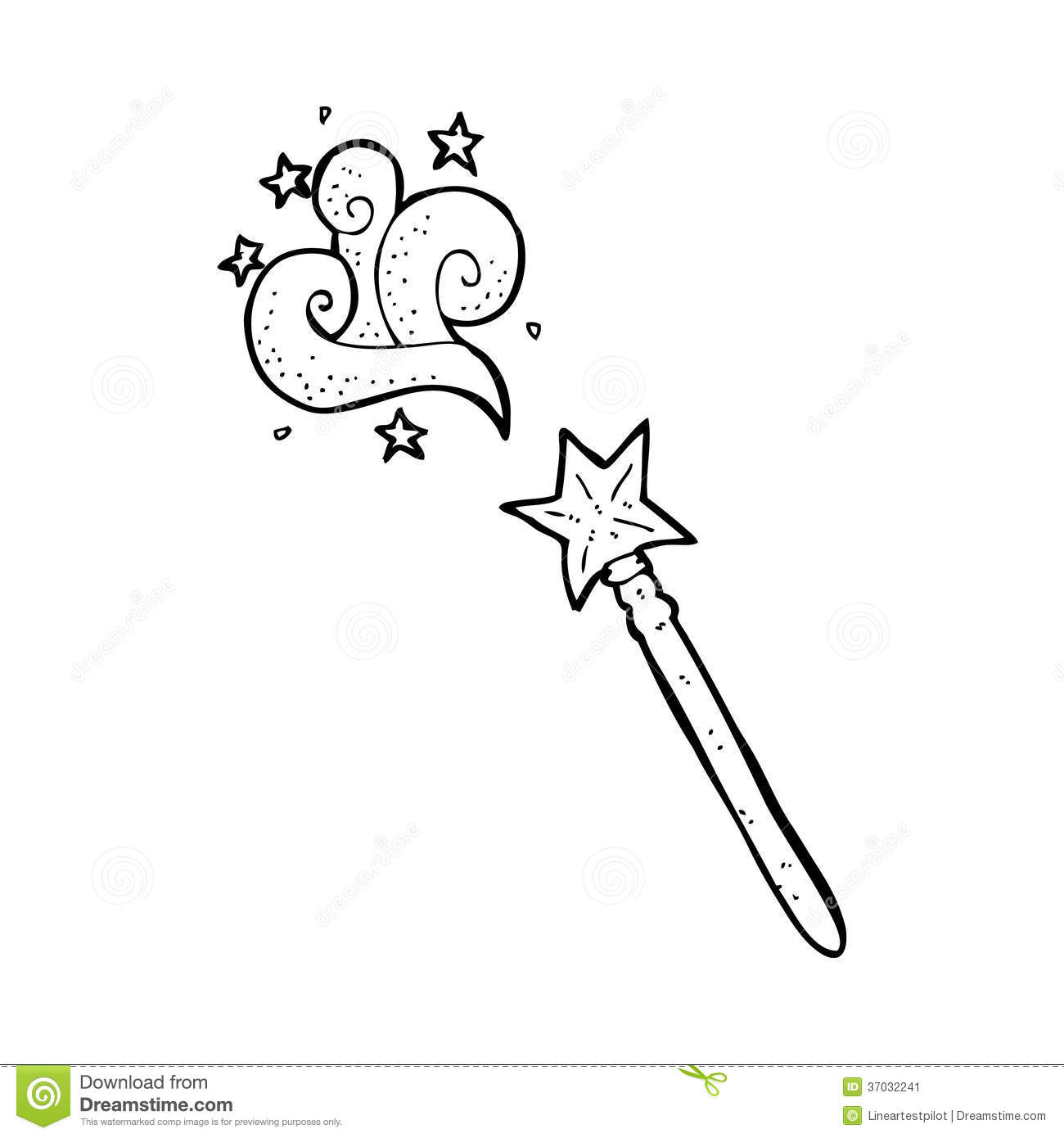 Cartoon magic wand stock illustration. Image of crazy ...