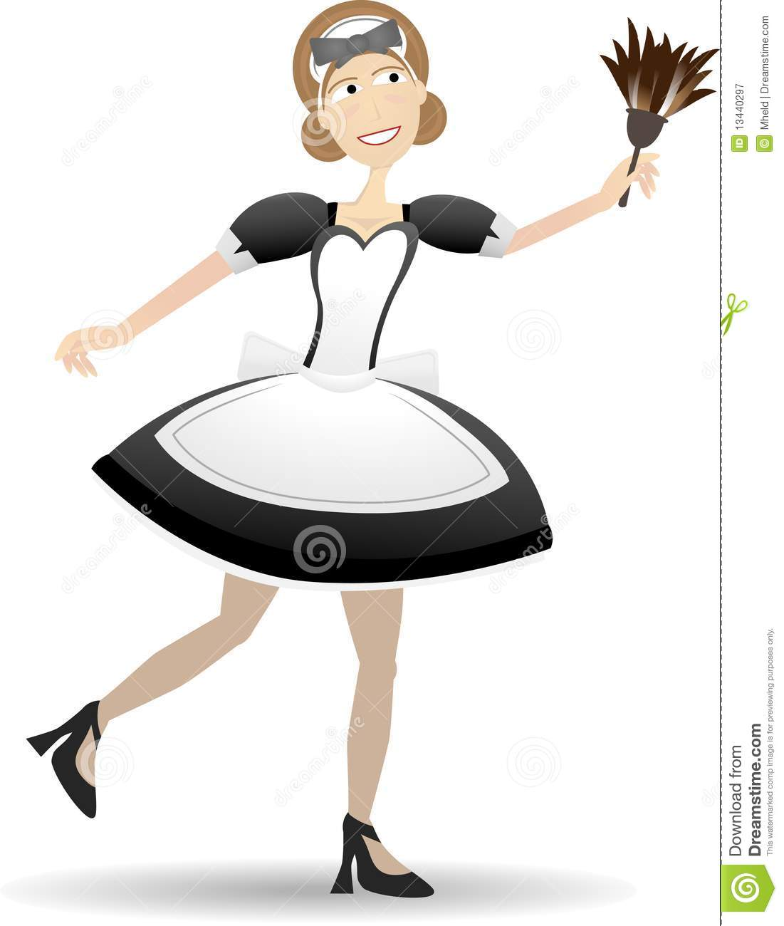 Royalty Free Stock Photography Cartoon Maid Holding Duster Vector Illustration Image13440297 on Elements And Pounds