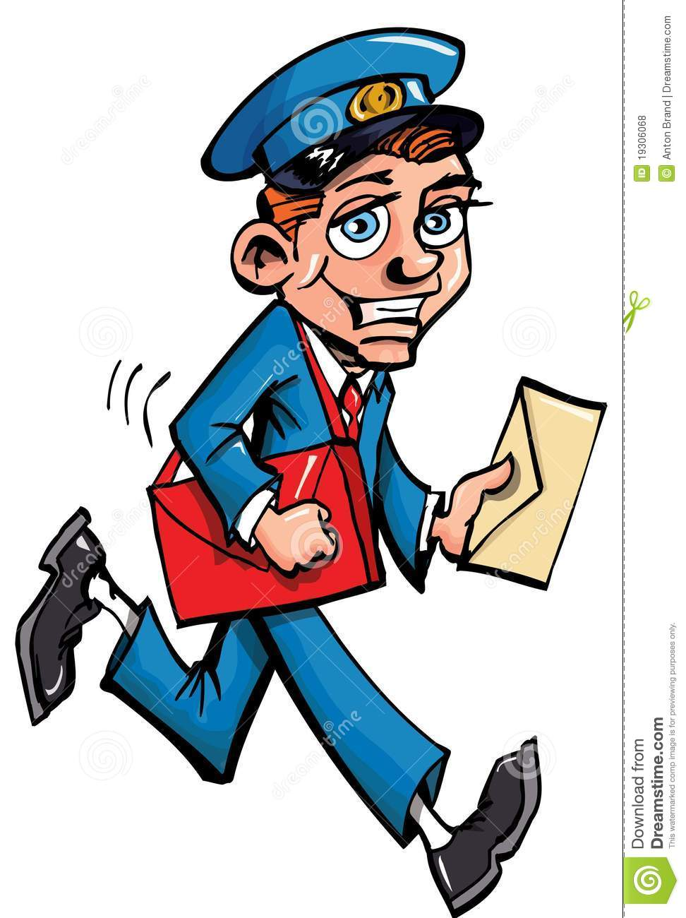 Cartoon Mailman Delivering Mail Royalty Free Stock Photos - Image ...