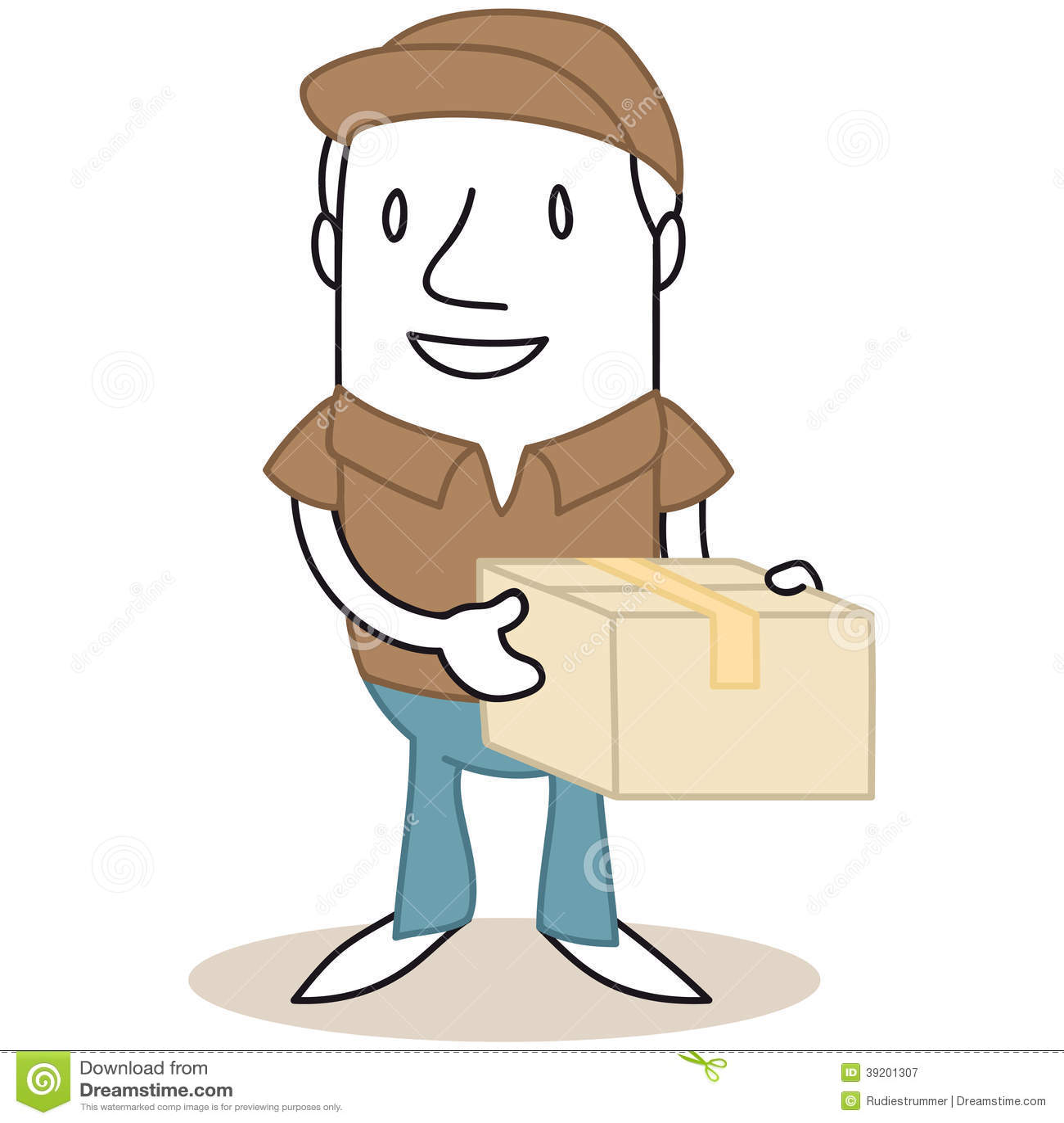 Cartoon Characters Holding Hands : Cartoon mailman holding parcel stock vector image