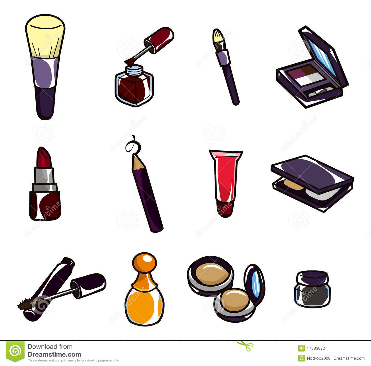 Cartoon Makeup Icon Stock Photography - Image: 17883872