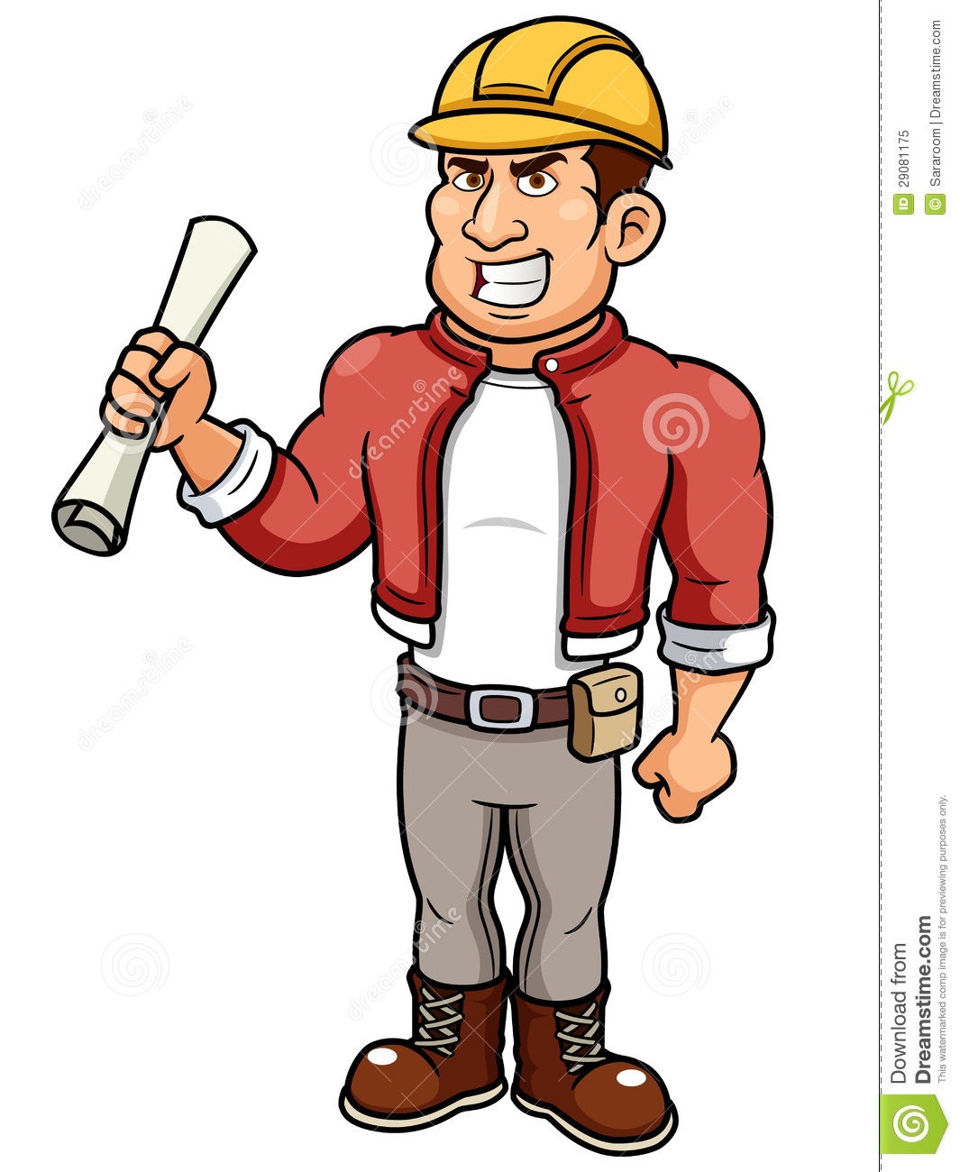 Cartoon Male Architect Royalty Free Stock Photo - Image: 29081175