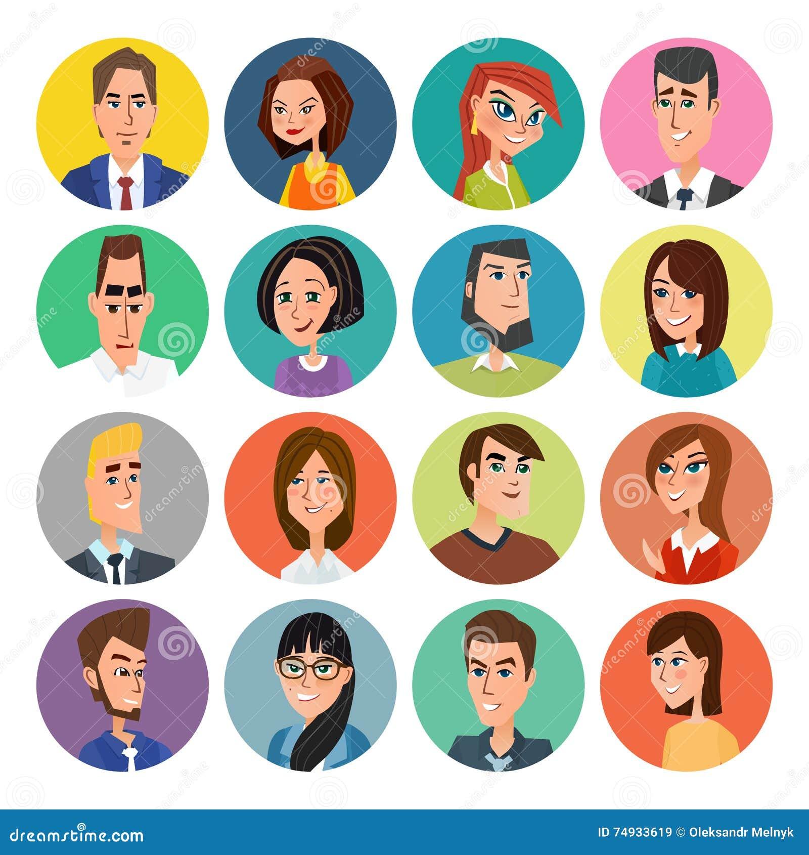 Developer Avatar: Faces Set, People Avatars Collection Vector Illustration