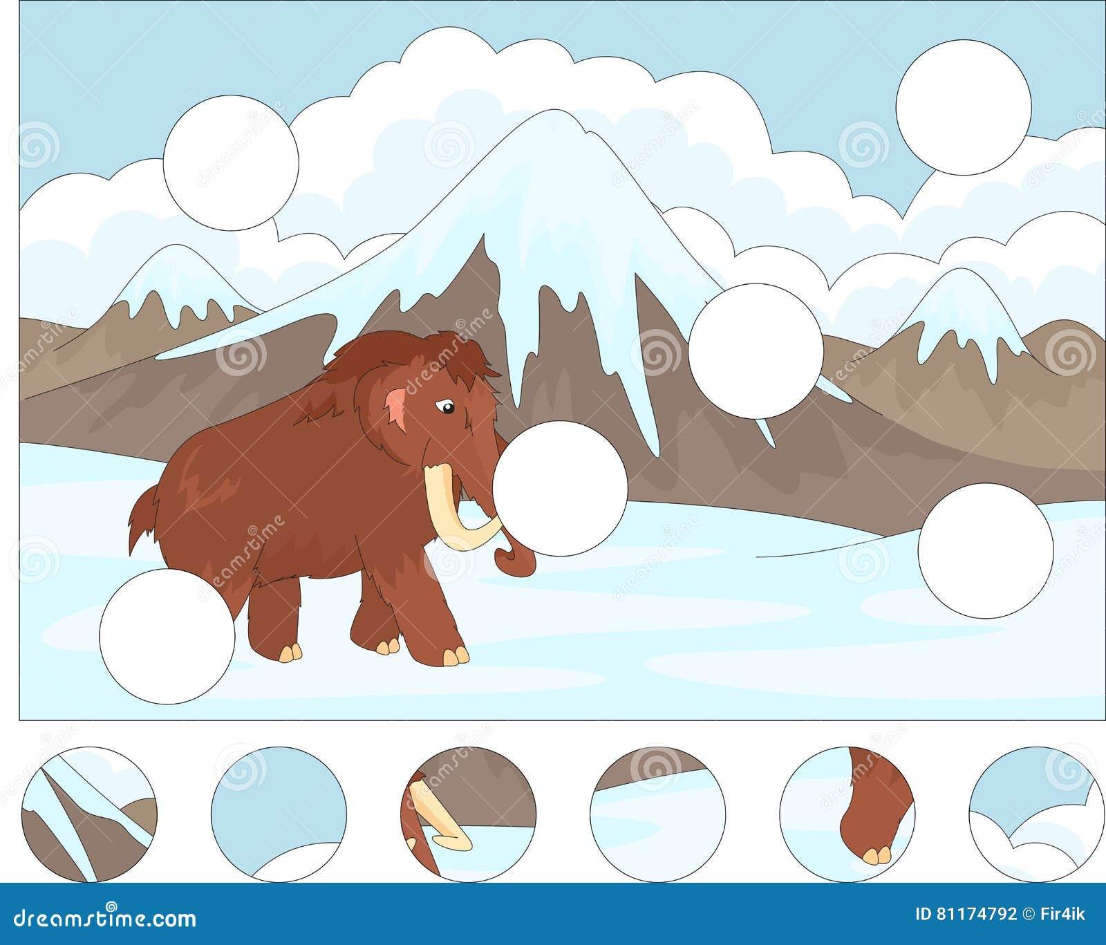 cartoon prehistoric rhinoceros  coloring book and dot to dot gam vector illustration