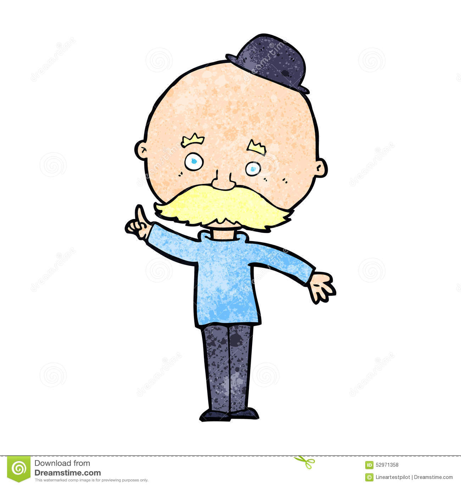 Cartoon Man In Bowler Hat Stock Illustration Illustration Of Retro