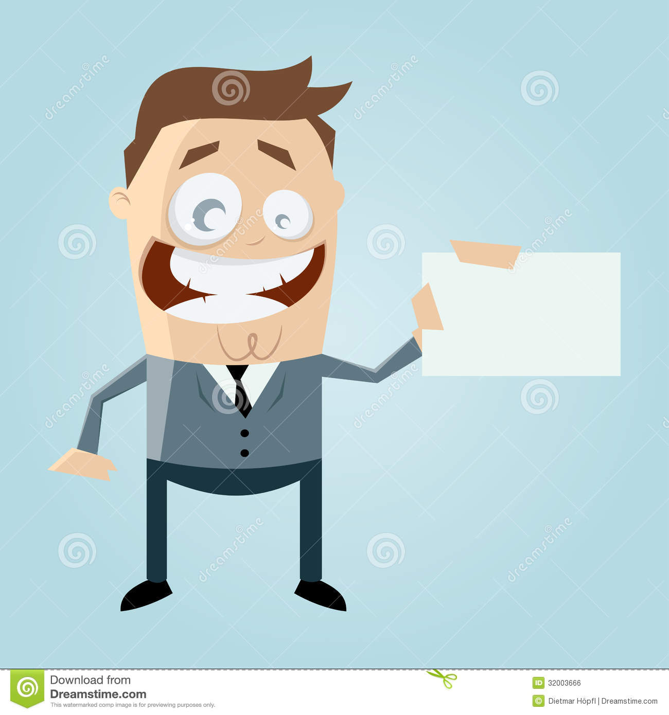Cartoon man with business card stock illustration illustration of cartoon man with business card colourmoves