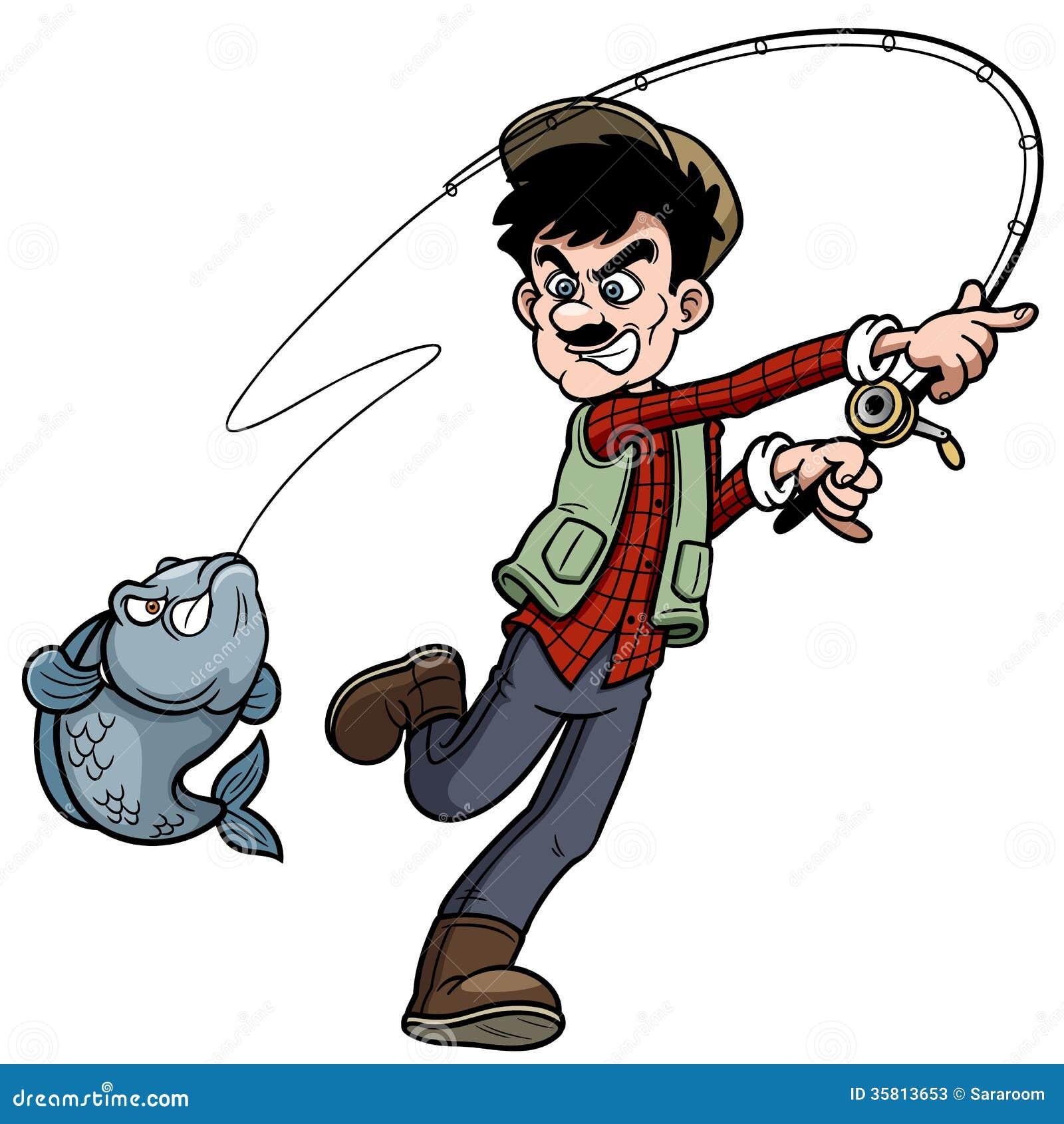 Cartoon Man Fishing Stock Photos - Image: 35813653