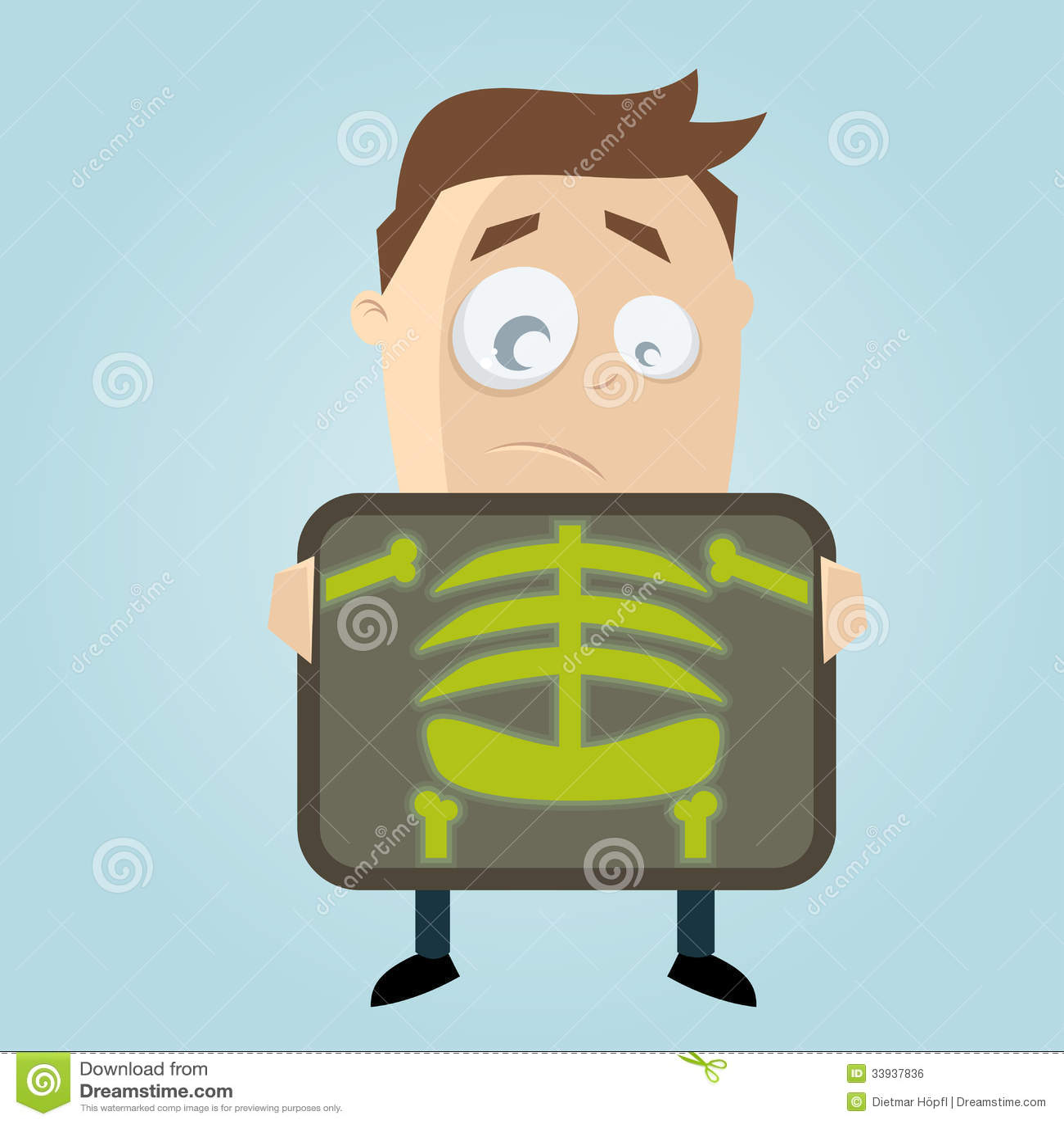 Cartoon Man Is Getting X-ray Examination Royalty Free Stock Image ...