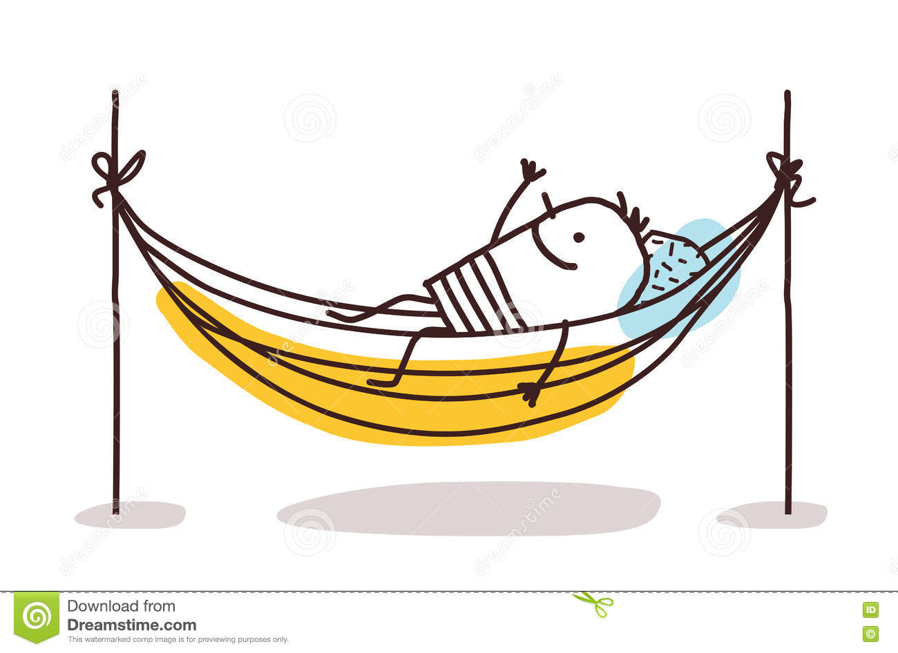 cartoon man having a rest in a hammock stock vector image 72106120 clip art stick figure family clip art stick figures people