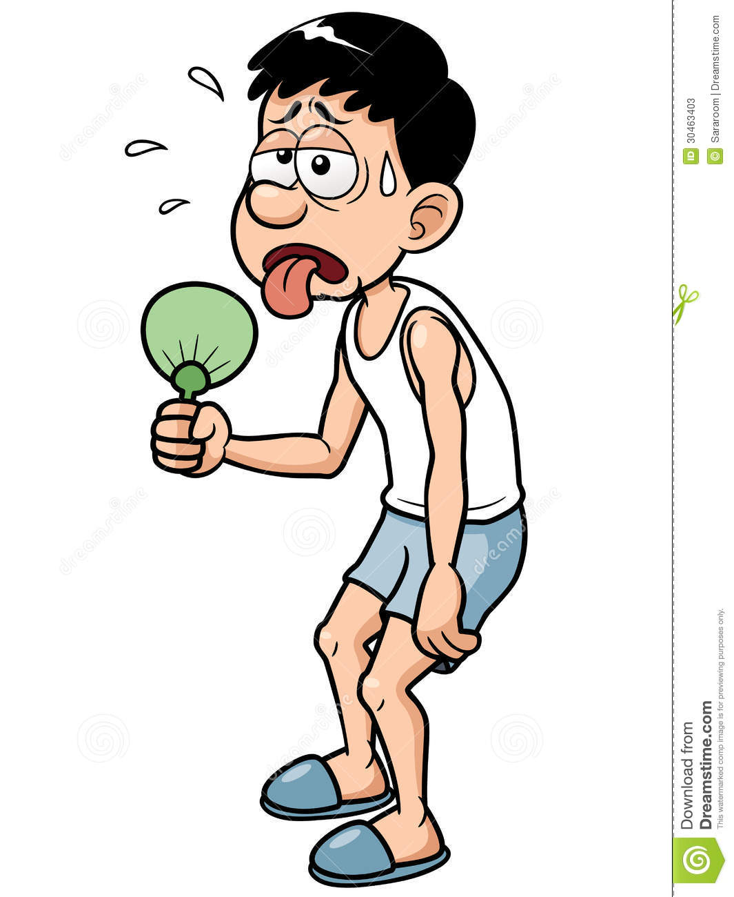 Cartoon Man In Hot Weather Stock Photos - Image: 30463403