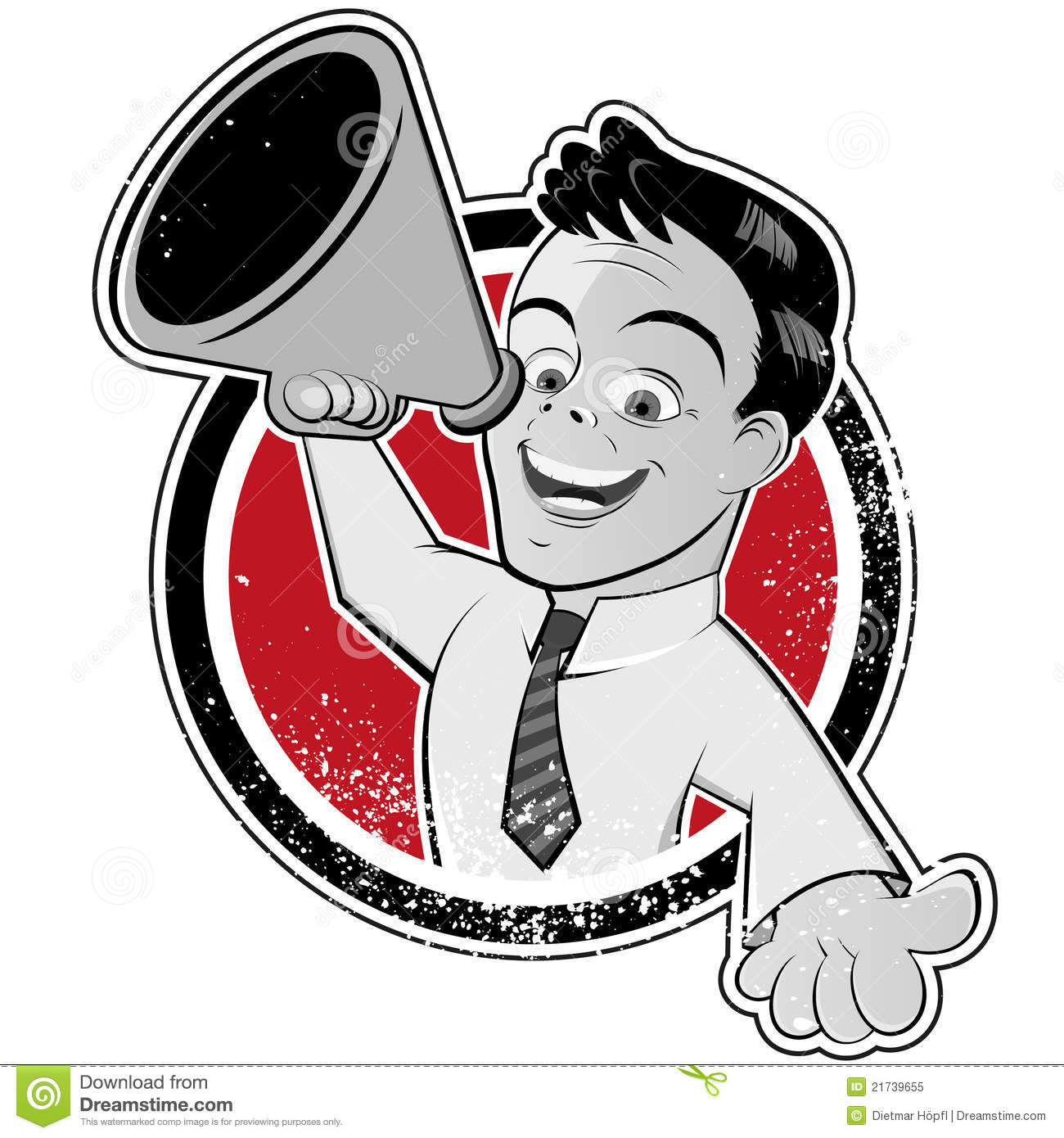 clipart man with megaphone - photo #28