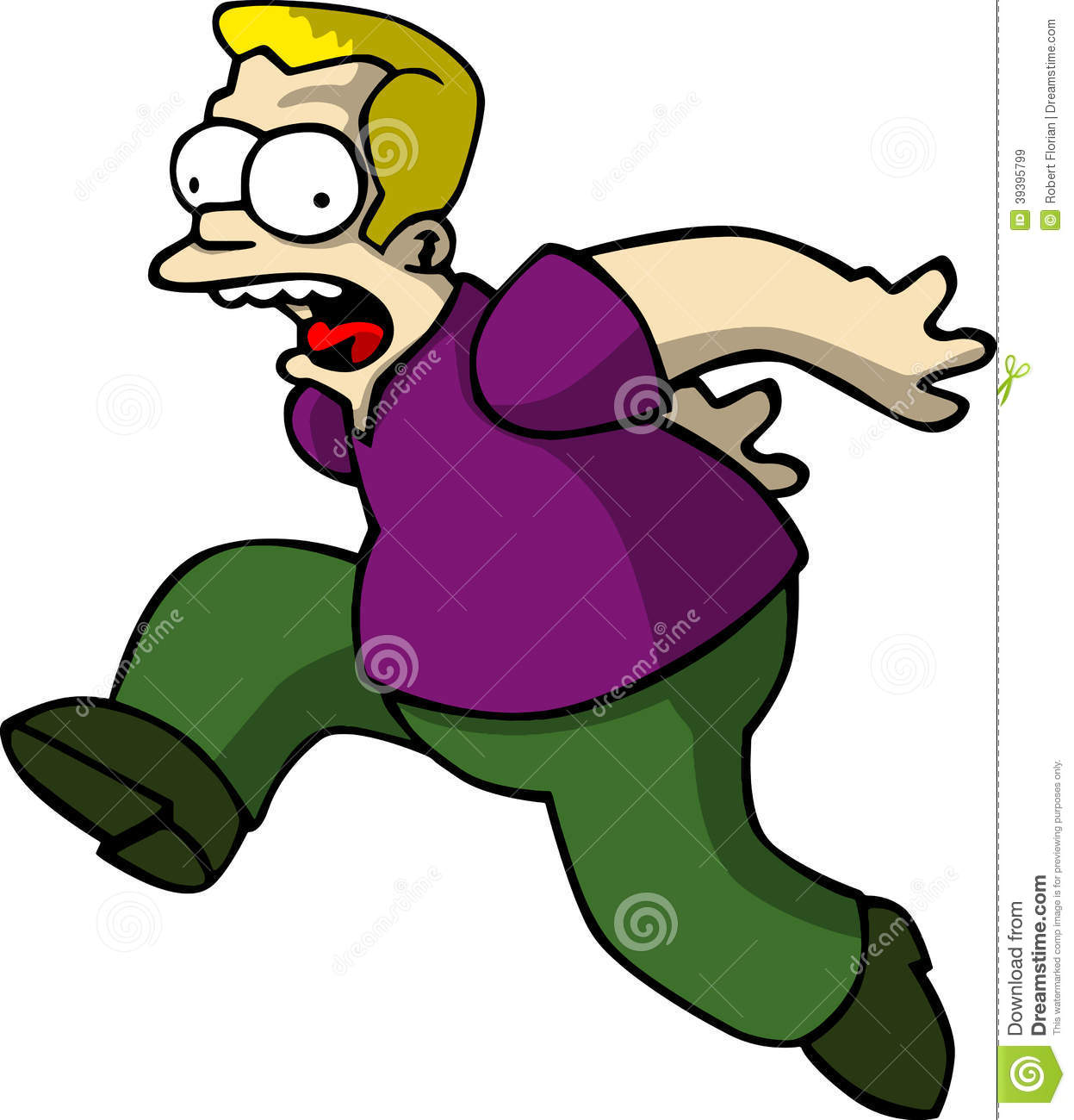Royalty Free Stock Images: Cartoon Man scared. Image: 39395799