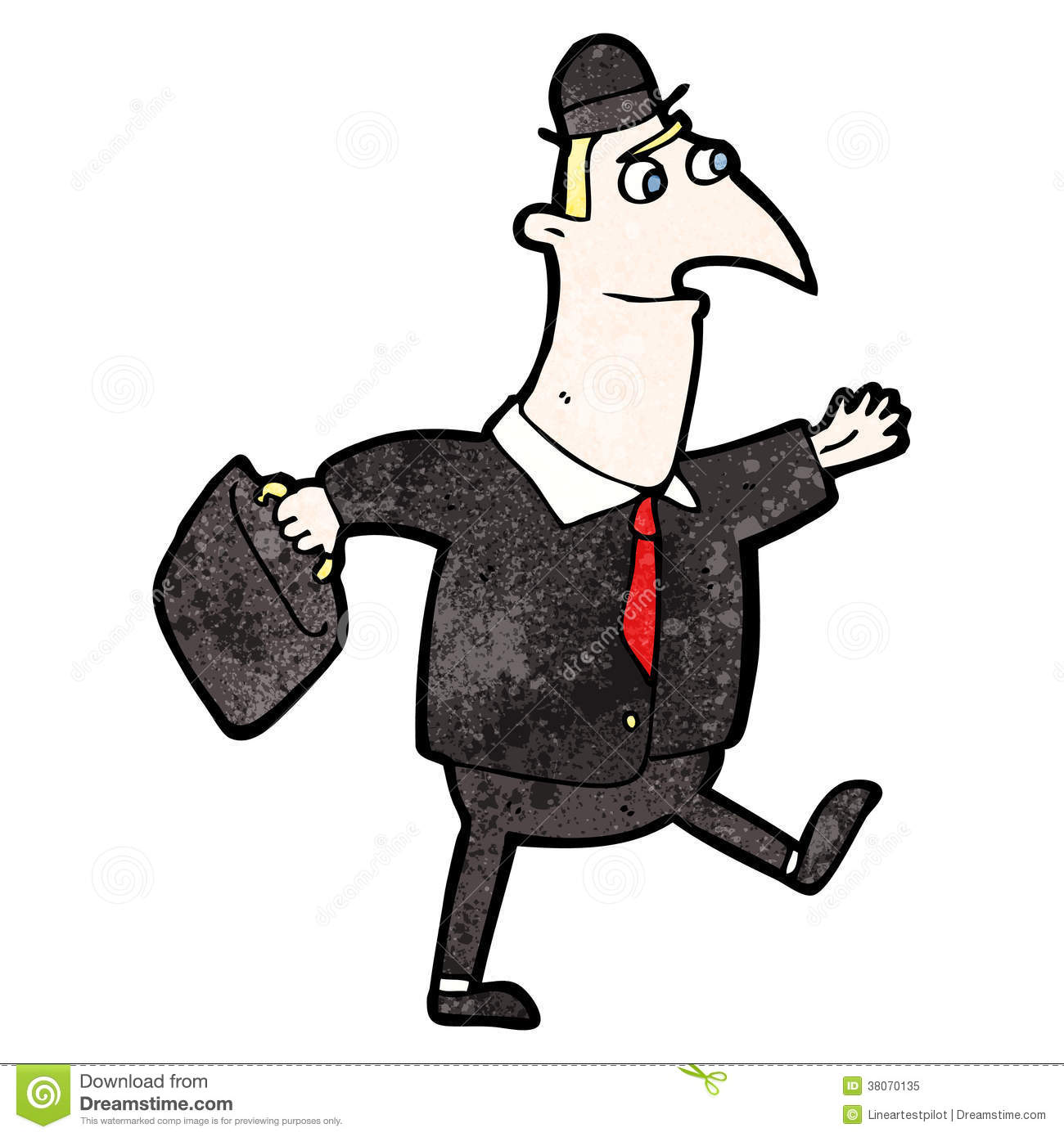cartoon man walking to work royalty stock photos image cartoon man walking to work royalty stock photo