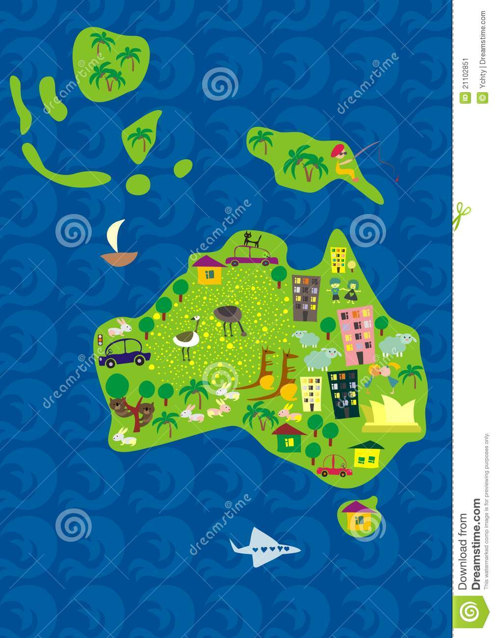 Cartoon map of australia in vector stock vector illustration of cartoon map of australia in vector gumiabroncs Image collections