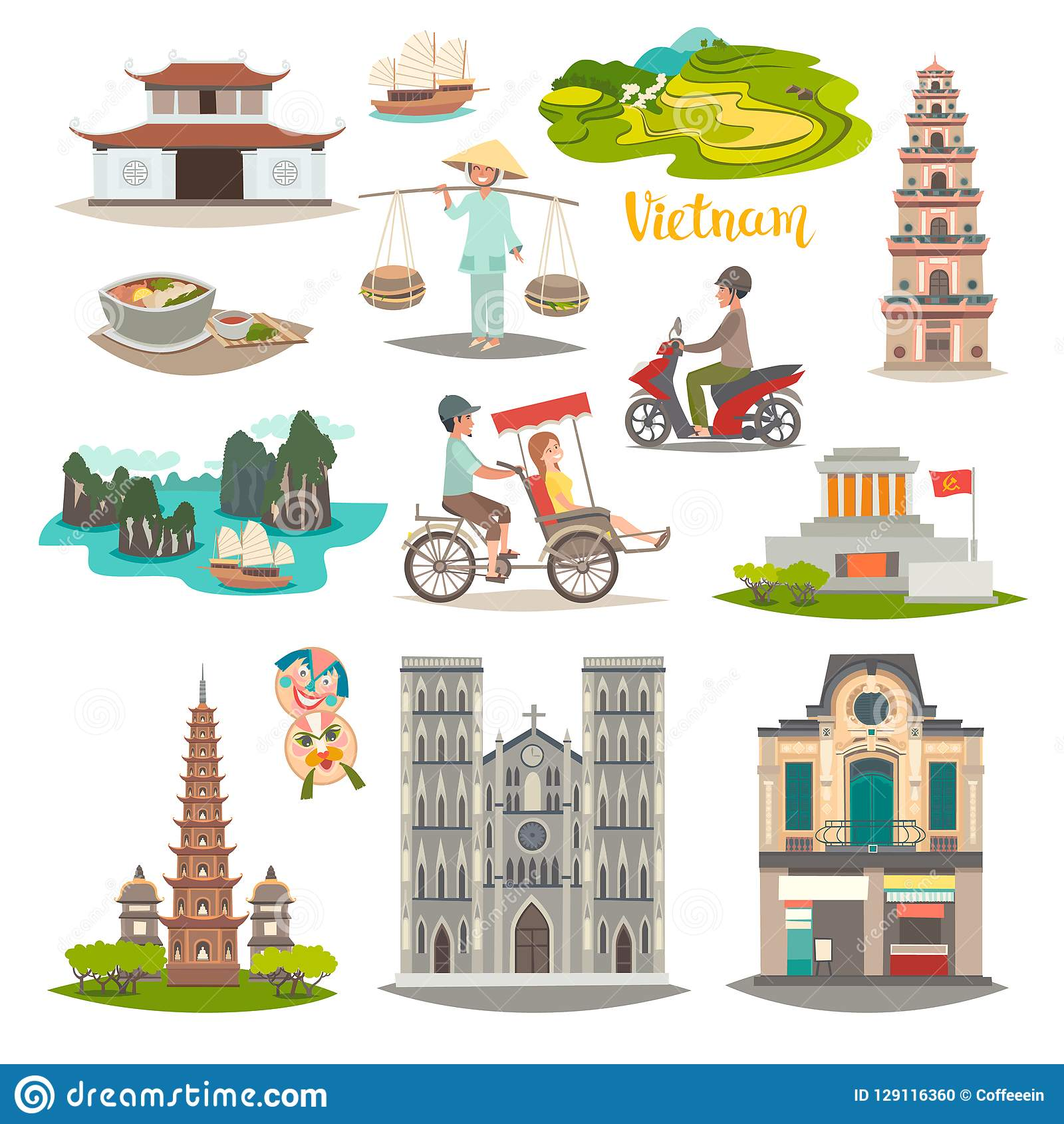Cartoon Map Of Bali For Kid And Children. Bali Landmarks Vector Cute ...