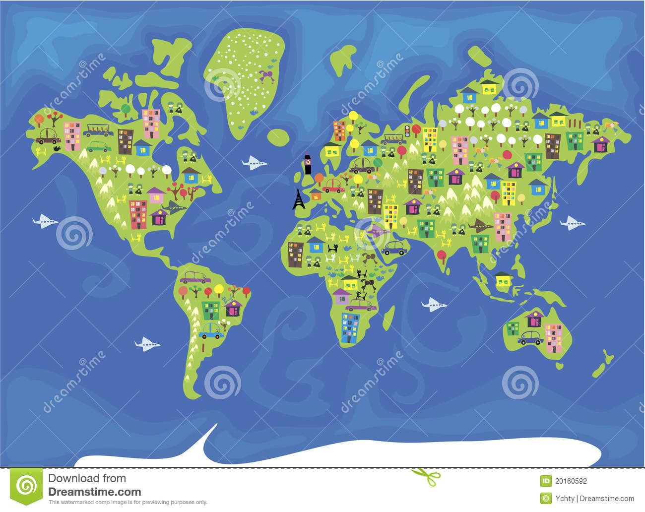 Cartoon map of the world in vector stock vector illustration of cartoon map of the world in vector gumiabroncs Choice Image