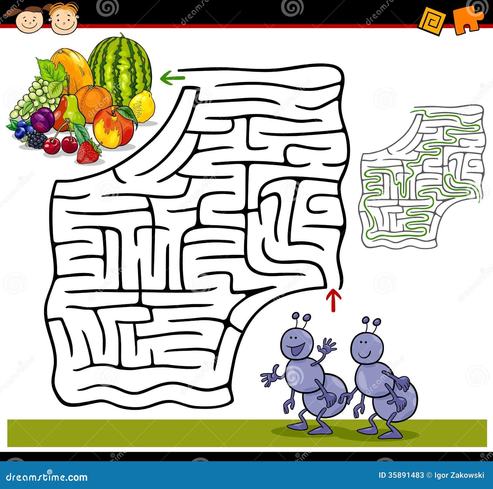 Cartoon Maze Or Labyrinth Game Stock Photos - Image: 35891483