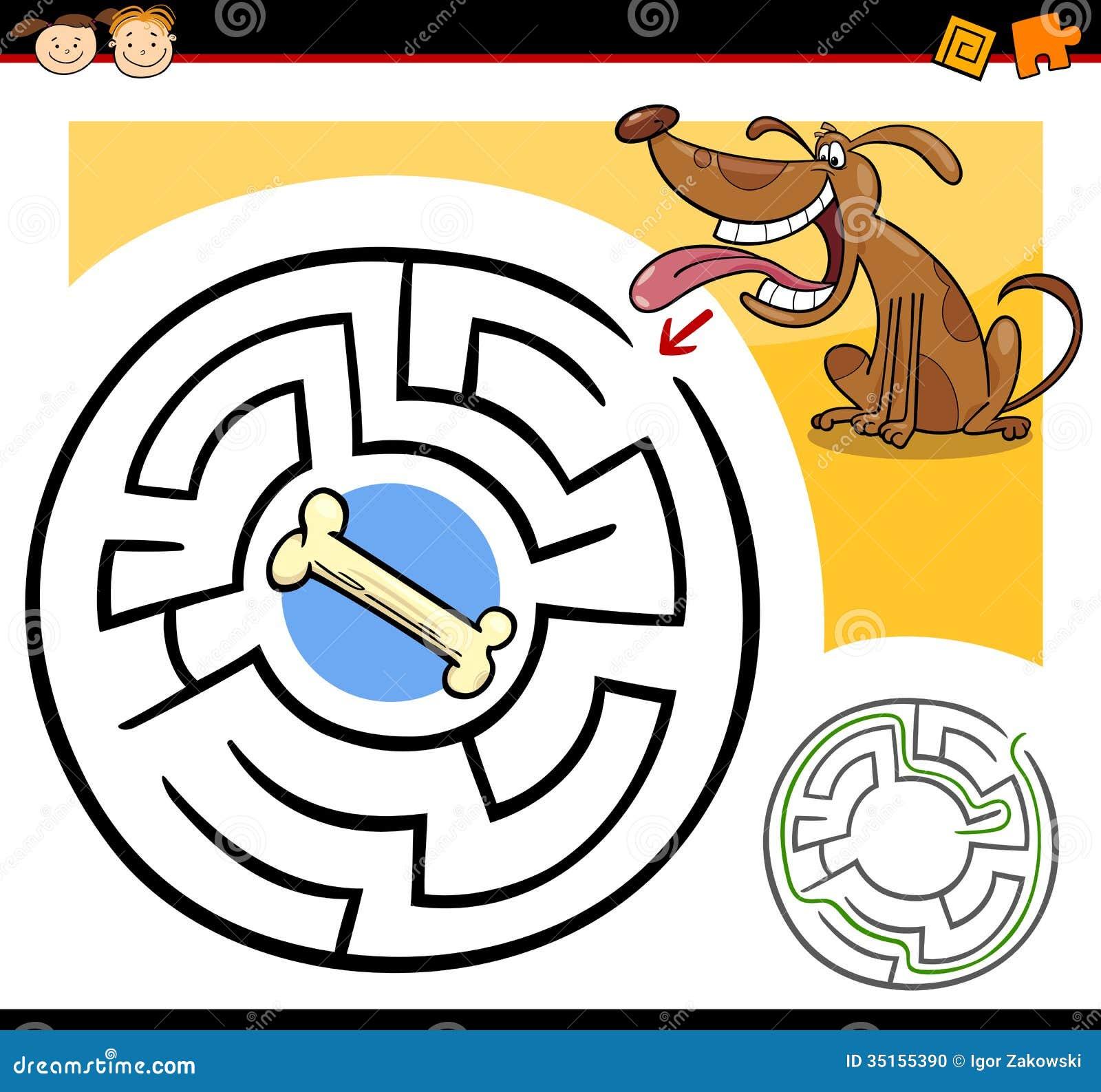 cartoon maze or labyrinth game stock photo image 35155390