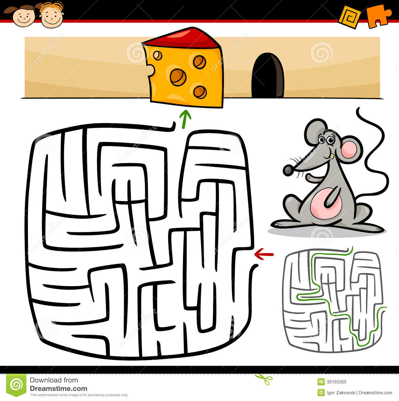 Cartoon Maze Or Labyrinth Game Royalty Free Stock Photo - Image ...