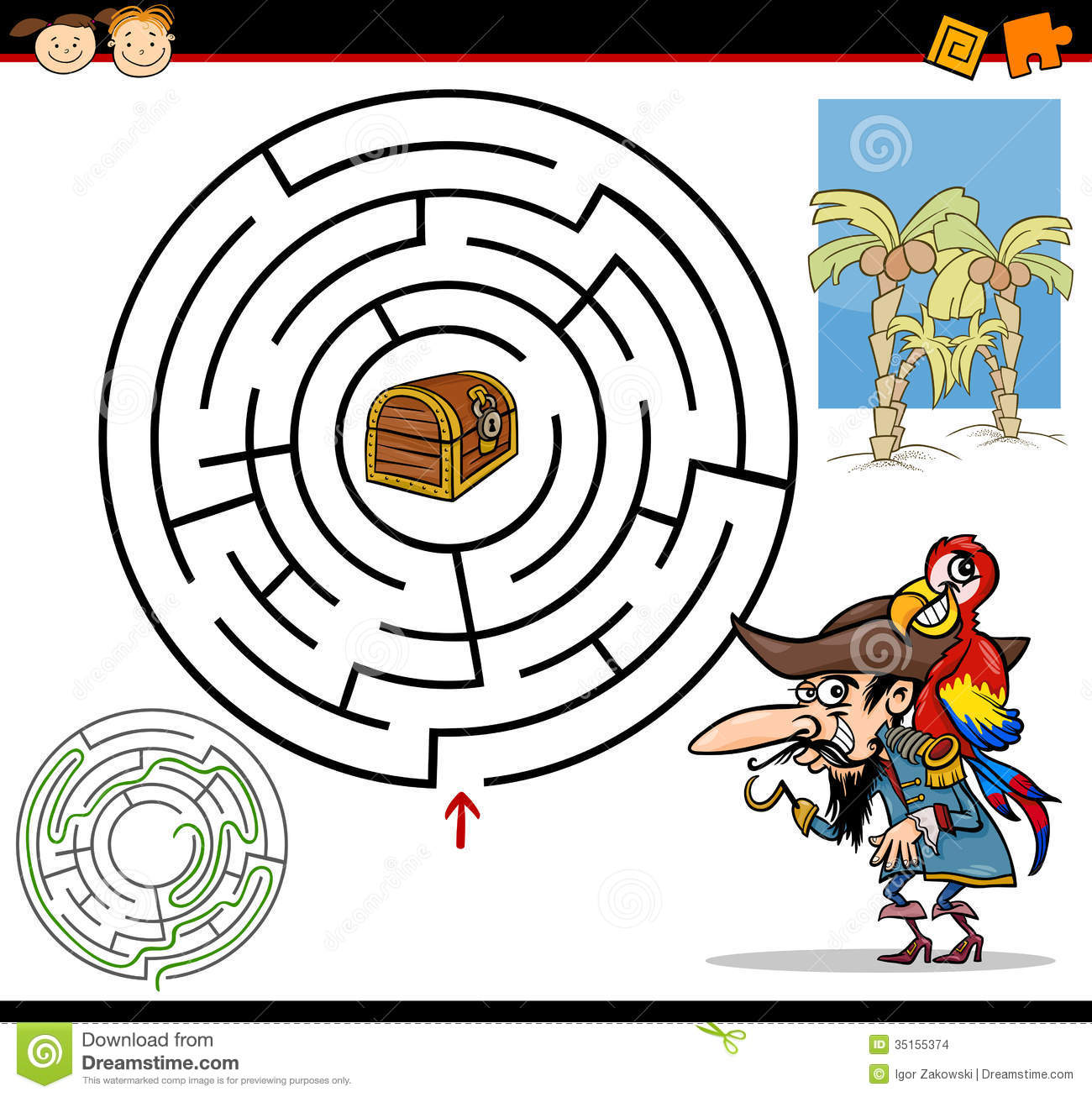 Cartoon Maze Or Labyrinth Game Stock Images Image 35155374
