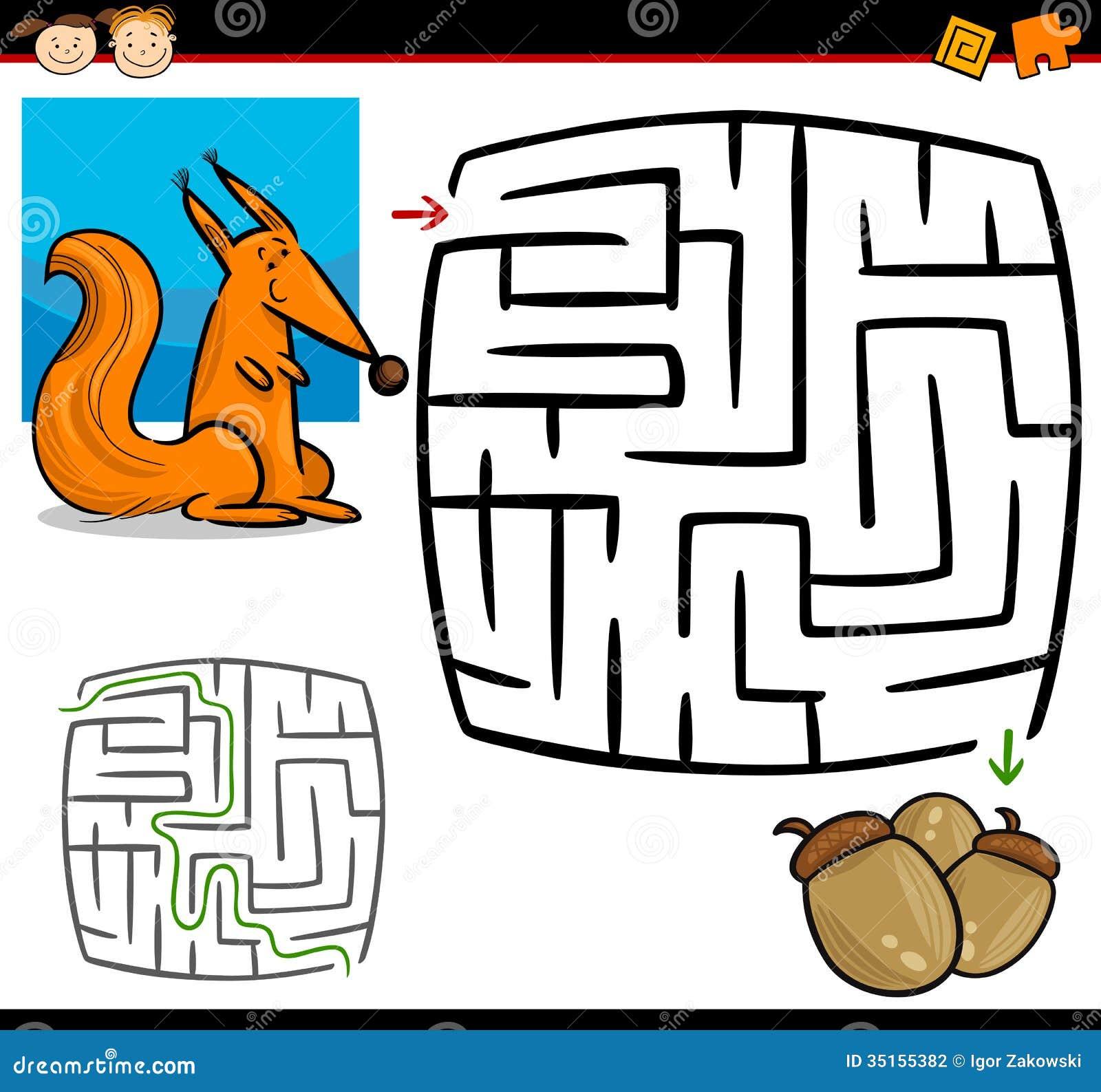 Maze for preschool