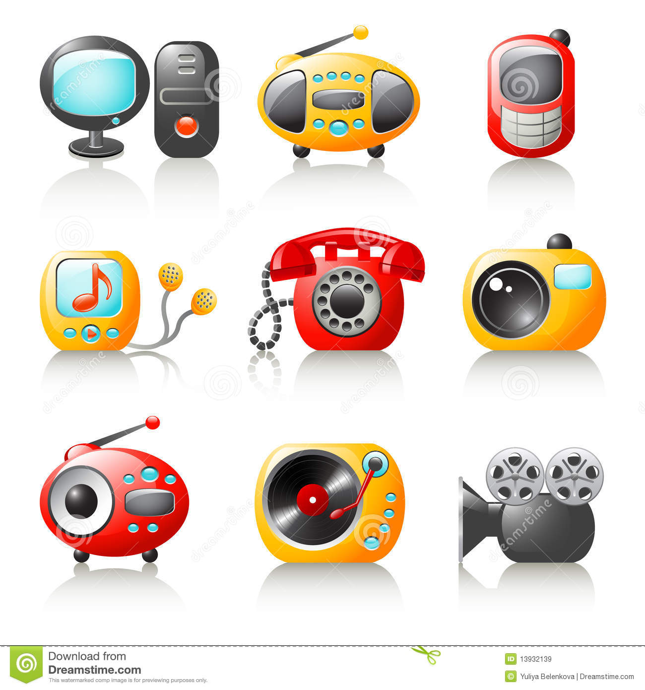 cartoon media home appliances royalty free stock images cad electrical symbols free