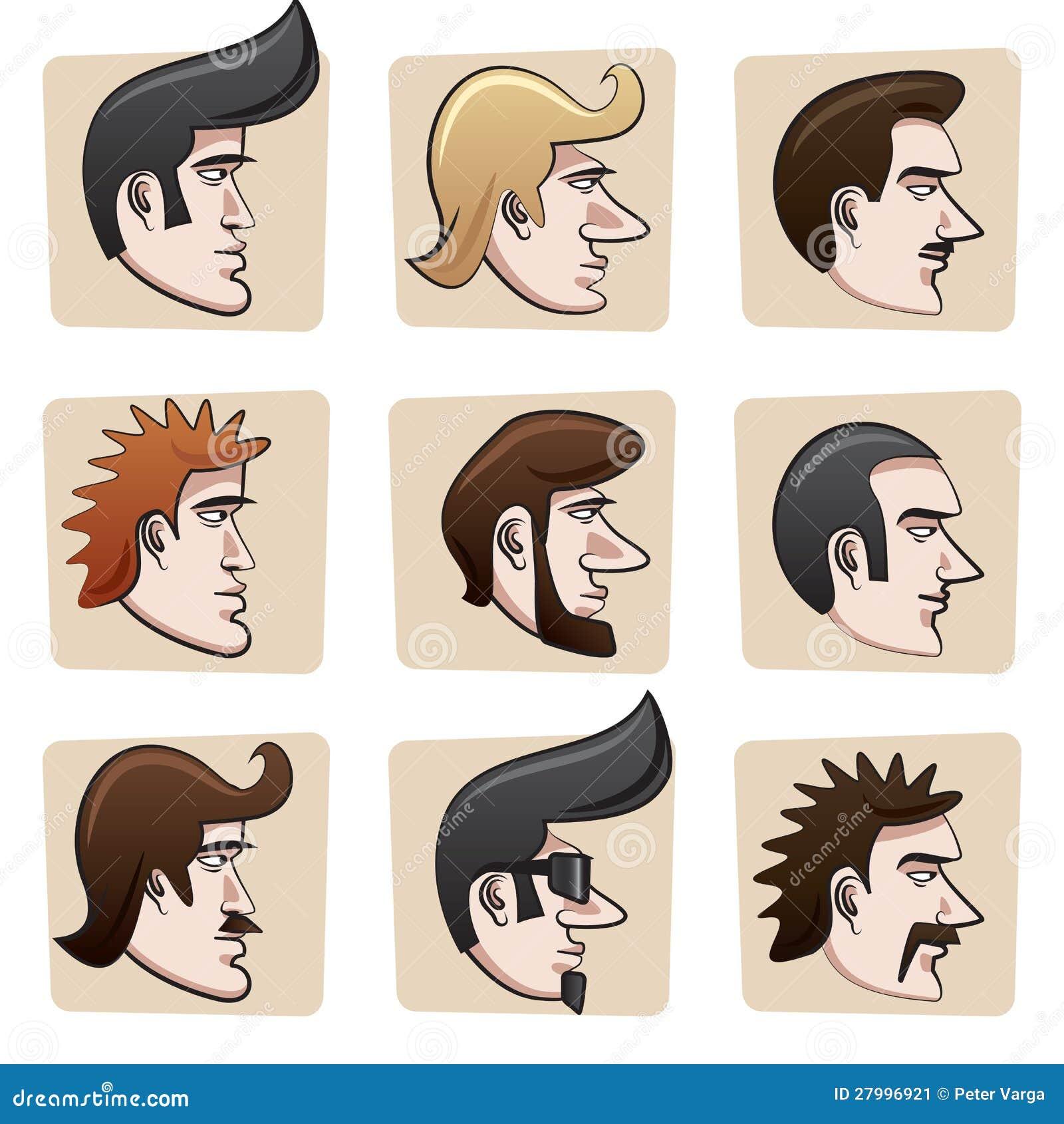 Cartoon Men Heads Stock Vector Illustration Of Head
