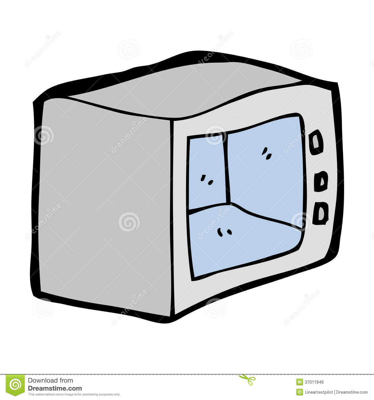 Cartoon Microwave Oven ~ Cartoon microwave royalty free stock image