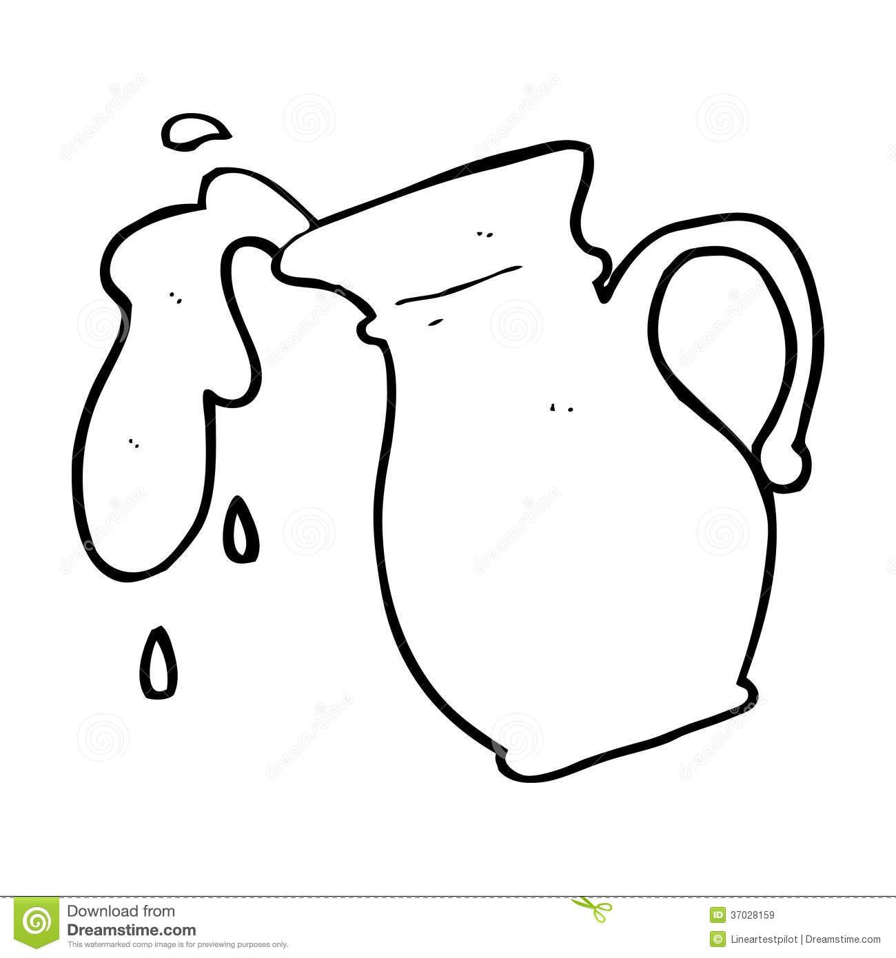 Line Drawing Jug : Cartoon milk jug stock illustration of food