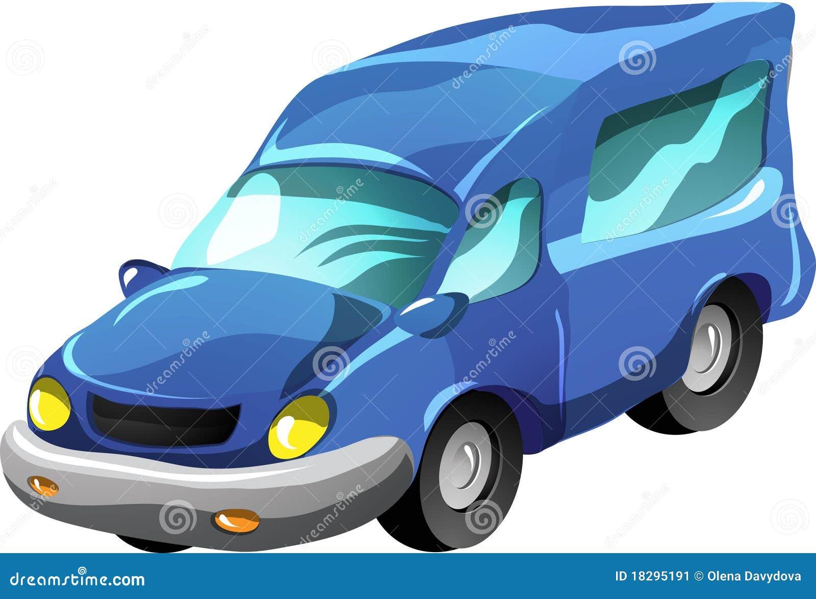 Cartoon Minibus Stock Image - Image: 18295191