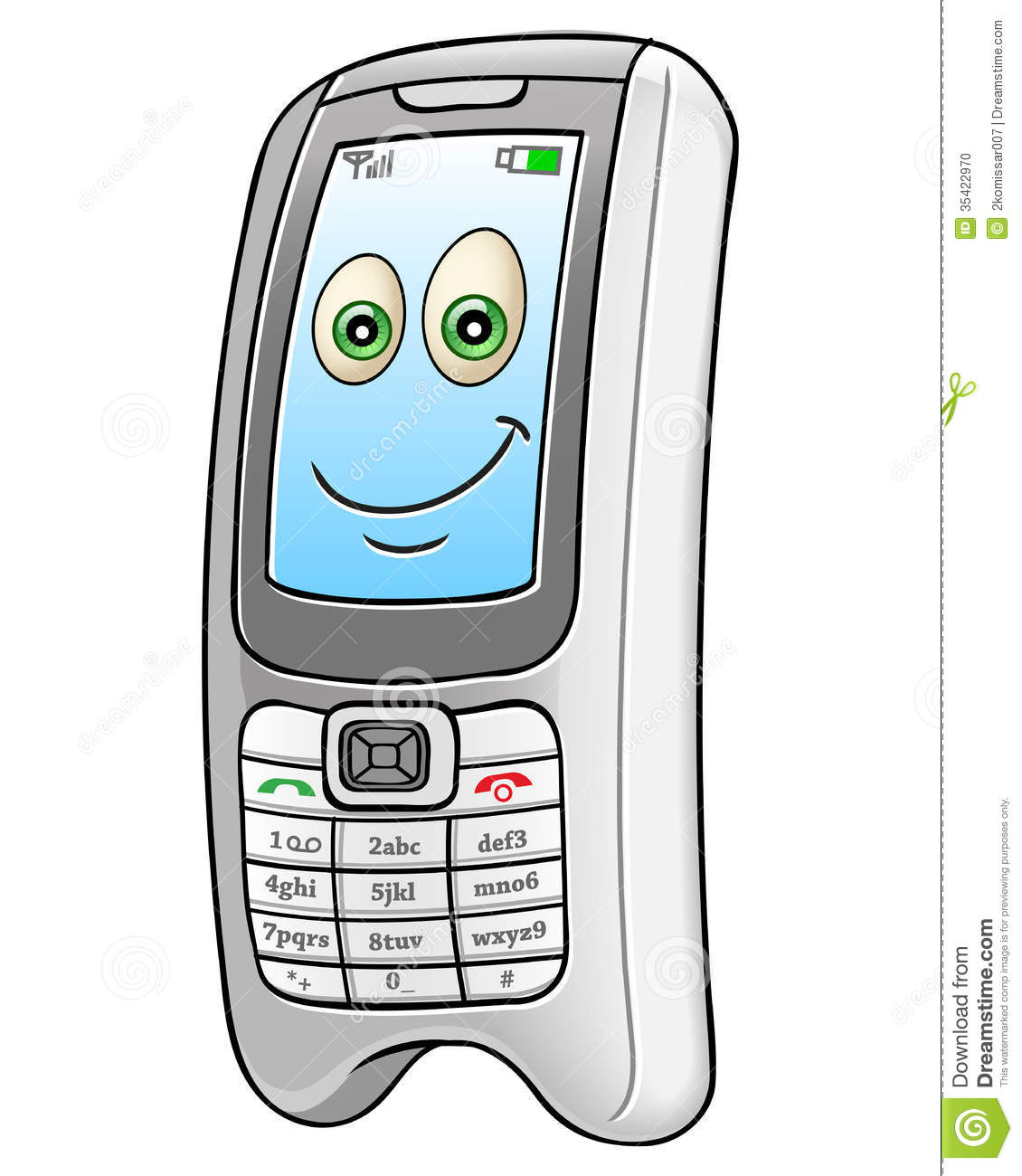 Cartoon mobile phone stock vector. Illustration of ...