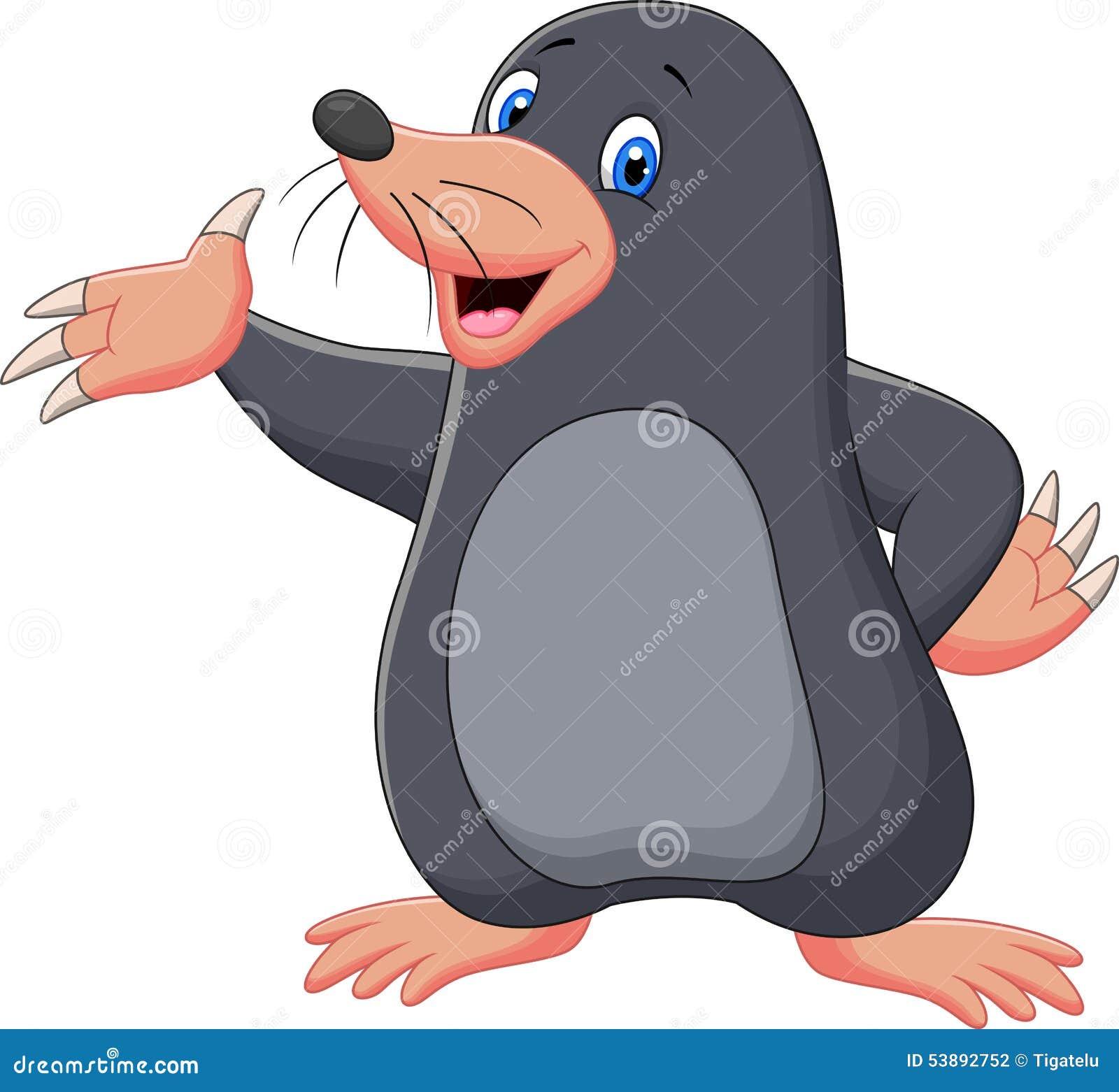 Cartoon Mole Waving Stock Vector - Image: 53892752