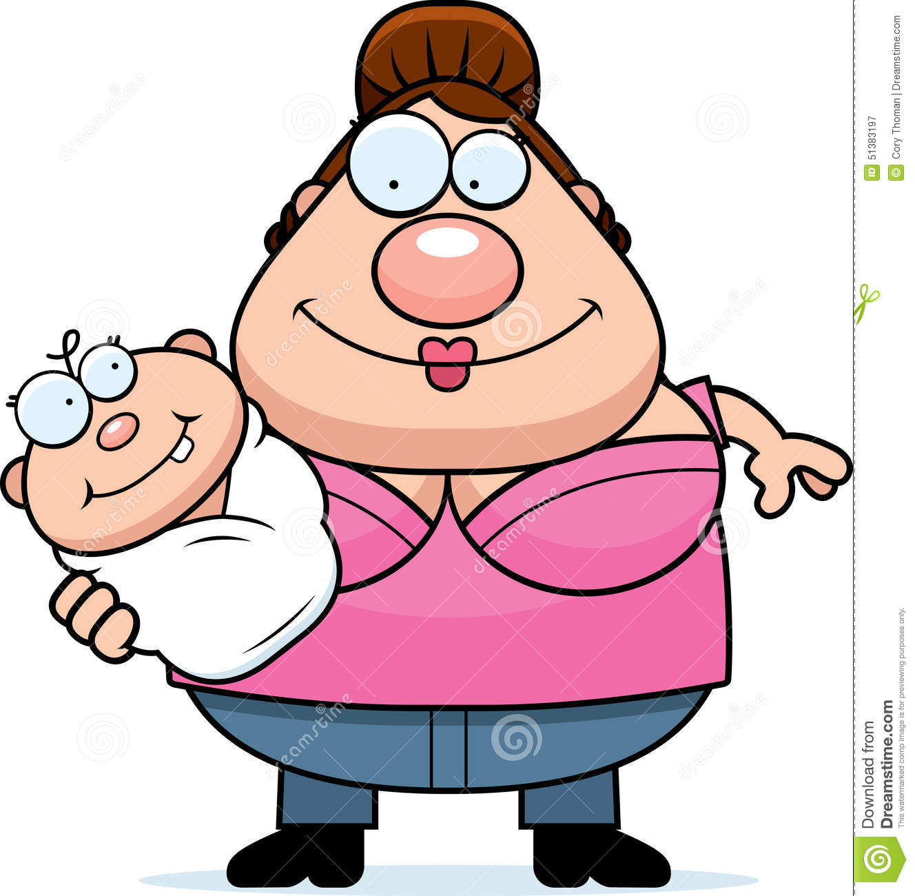 Woman Holding Baby Clip Art Stock Illustrations – 240 Woman Holding ...