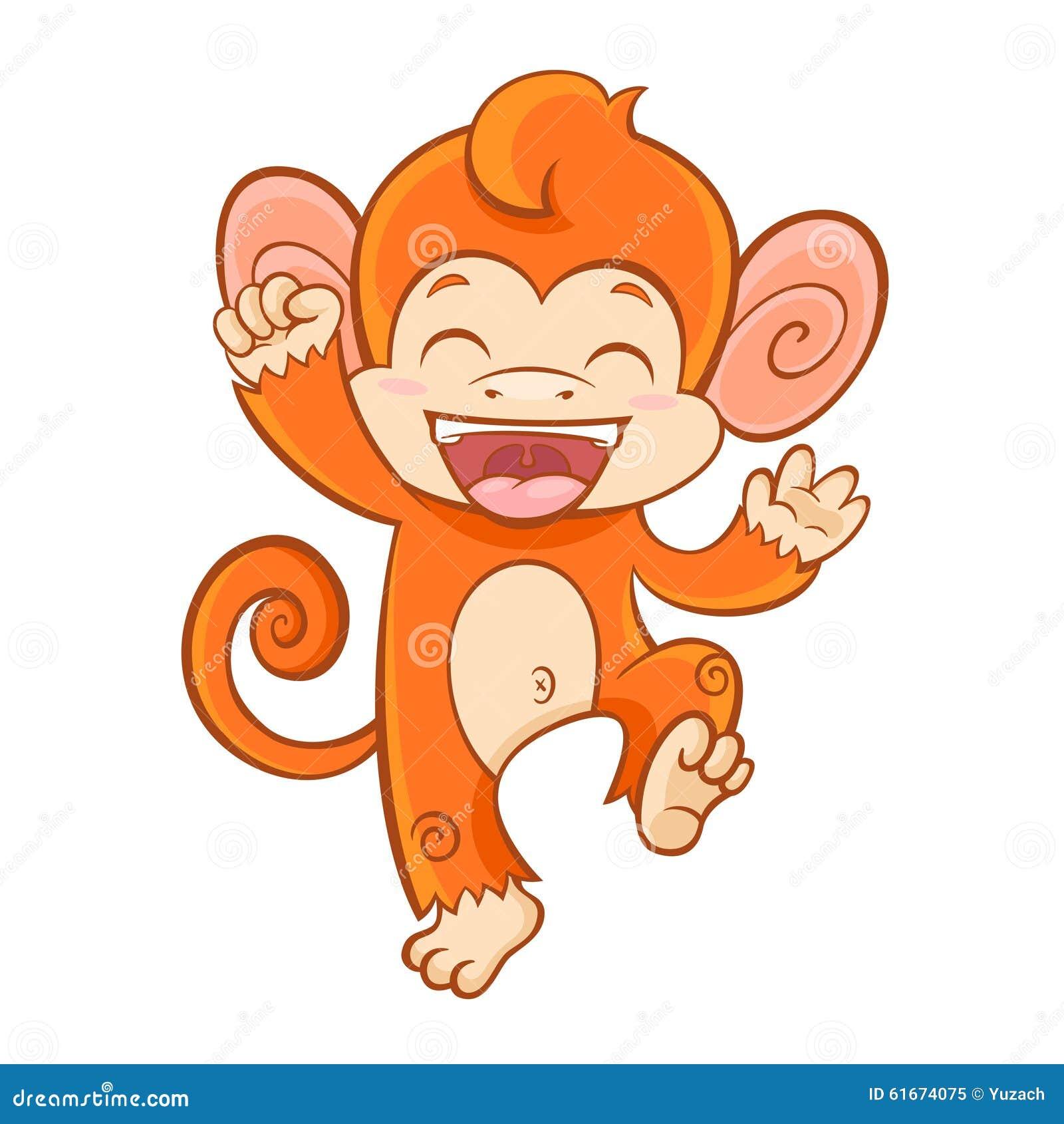 7 monkeys cartoon white background