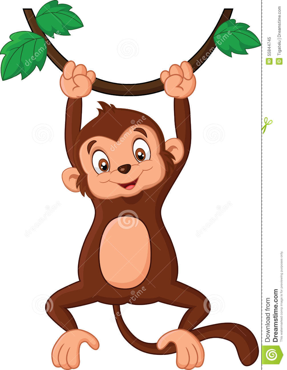 clipart monkey hanging from tree - photo #29