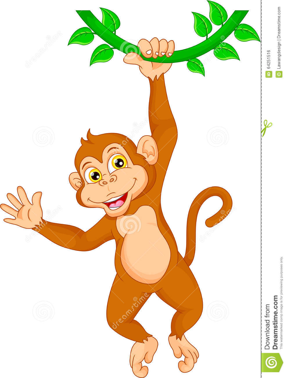 clipart monkey hanging from tree - photo #42