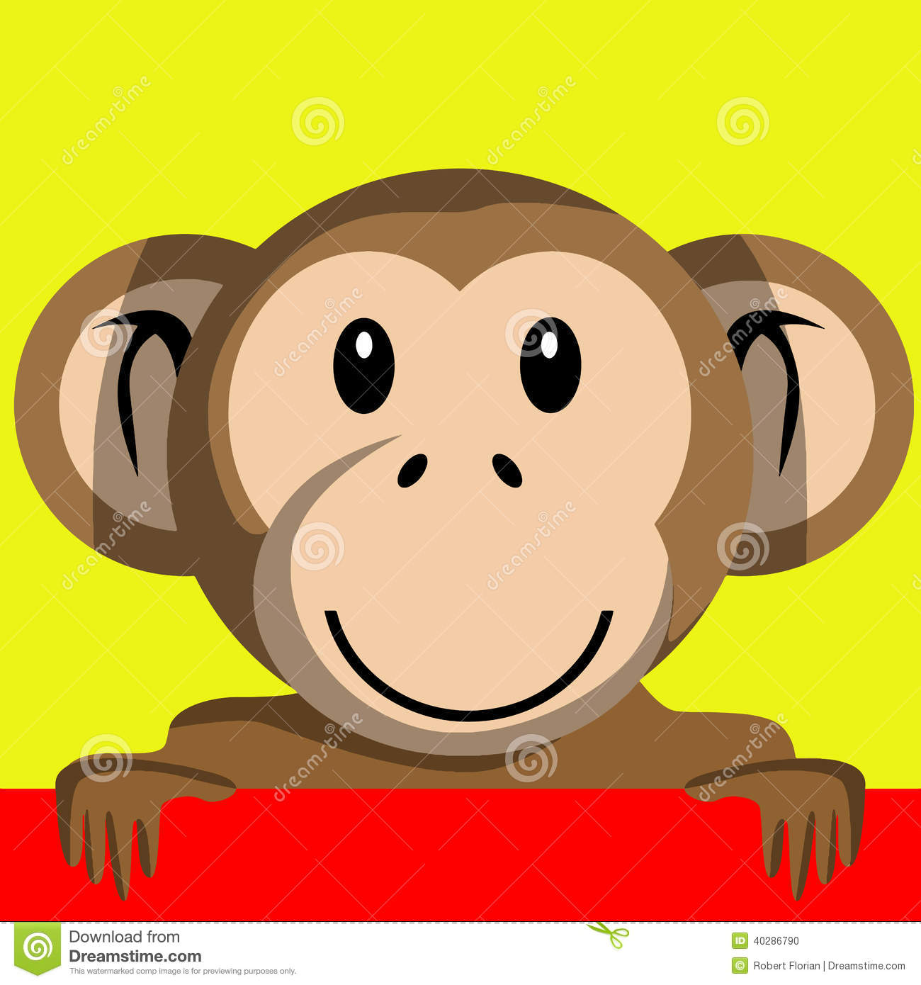 Cartoon girl monkey
