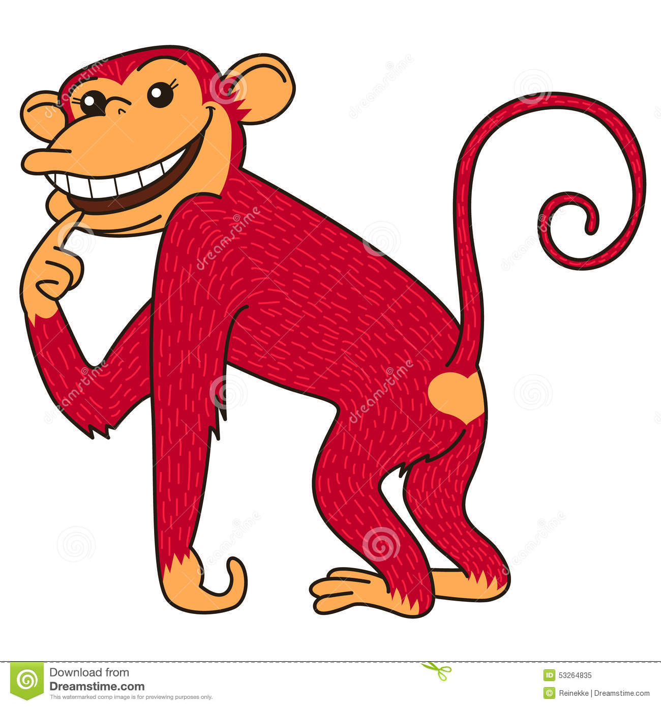 Red monkey is a symbol of the year according to Chinese zodiac.