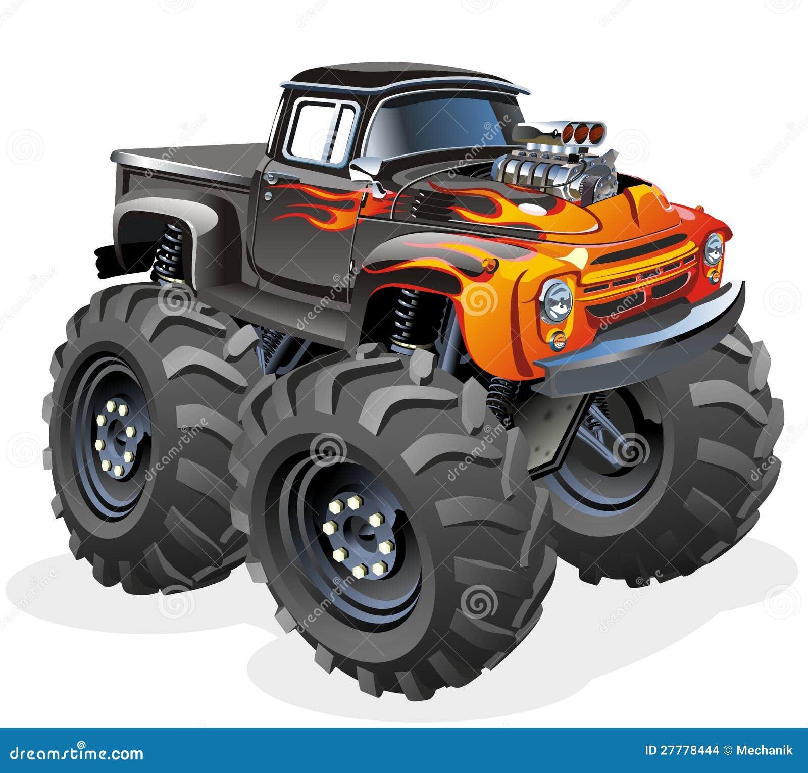 cartoon mixer monster truck stock vector illustration of extreme